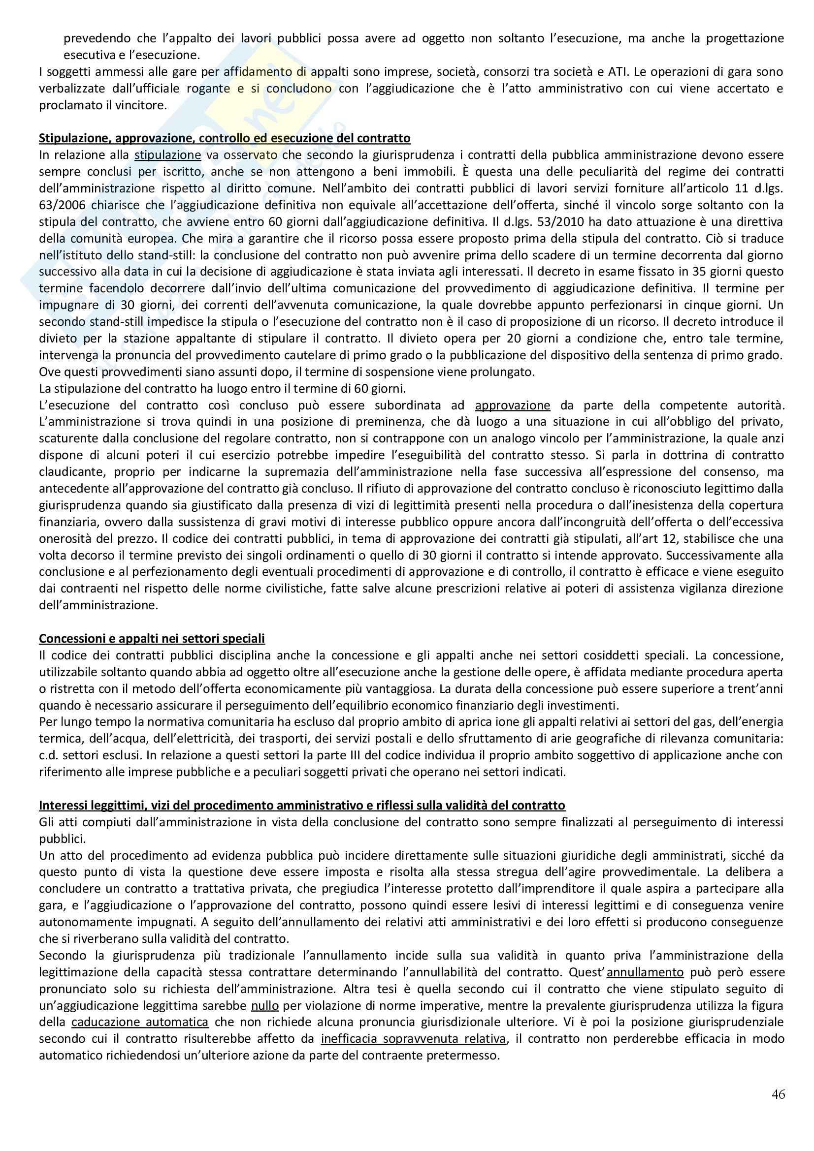 Riassunto esame Diritto Amministrativo, prof. Casetta, libro consigliato Manuale di Diritto Amministrativo Pag. 46