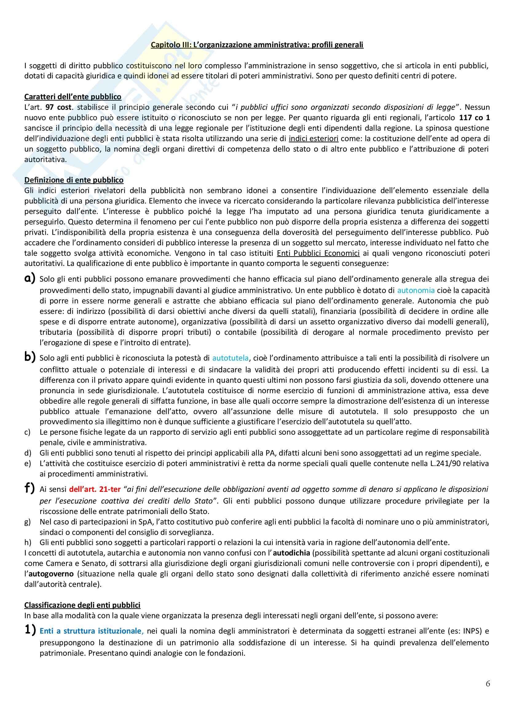 Riassunto esame Diritto Amministrativo, prof. Casetta, libro consigliato Manuale di Diritto Amministrativo Pag. 6