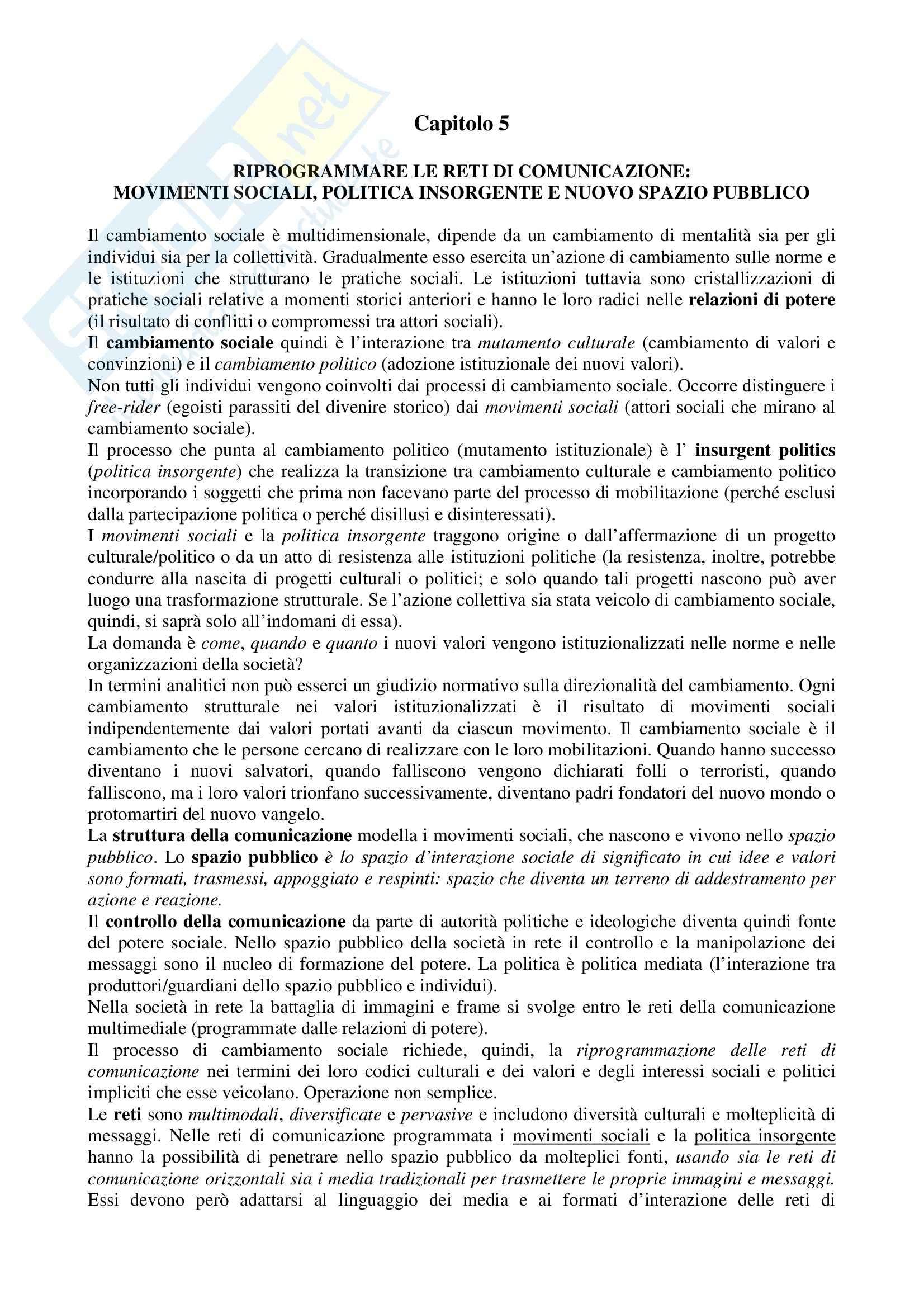 appunto S. Bentivegna COMUNICAZIONE POLITICA