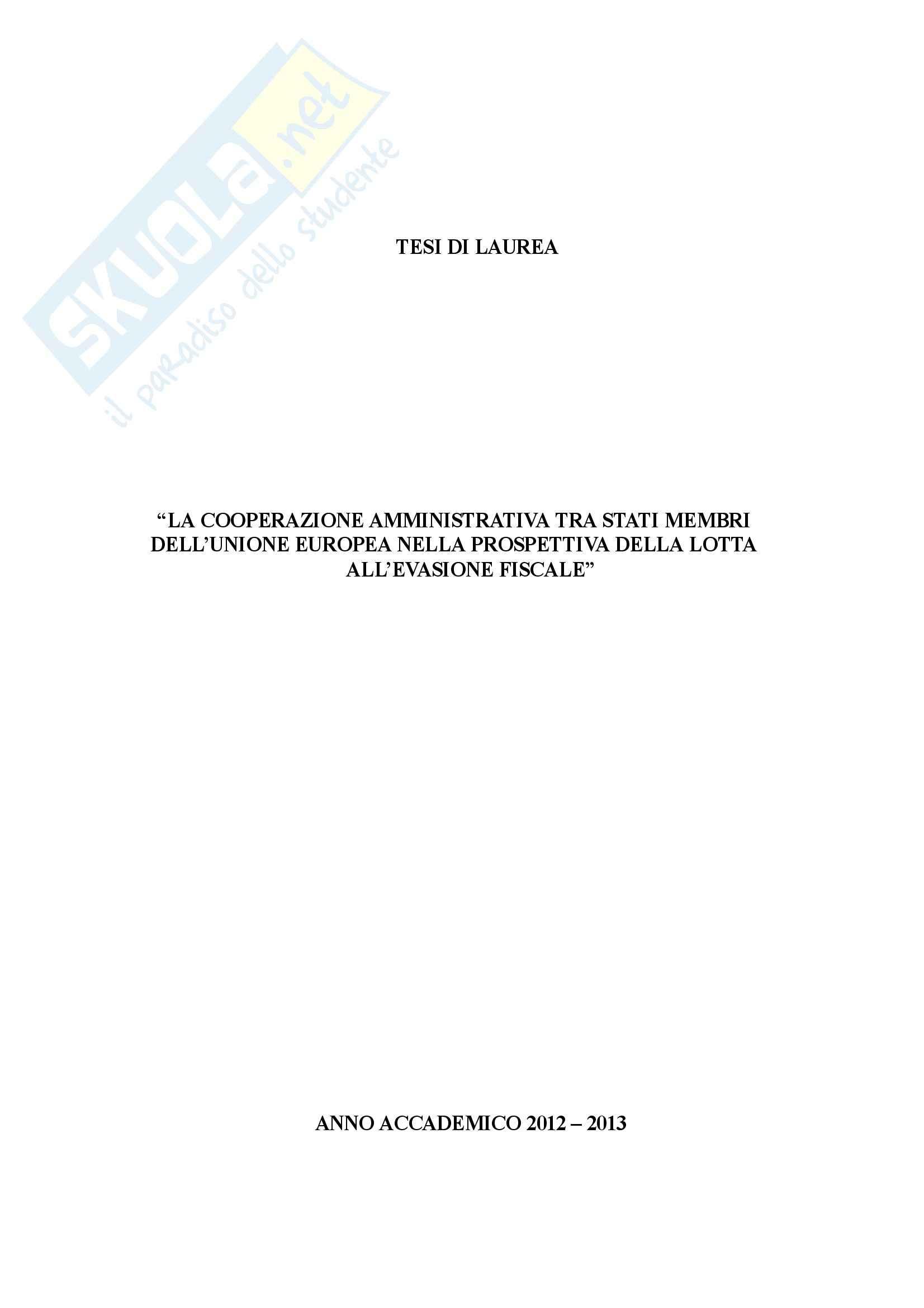 La cooperazione amministrativa tra gli Stati membri dell'Unione Europea, Diritto