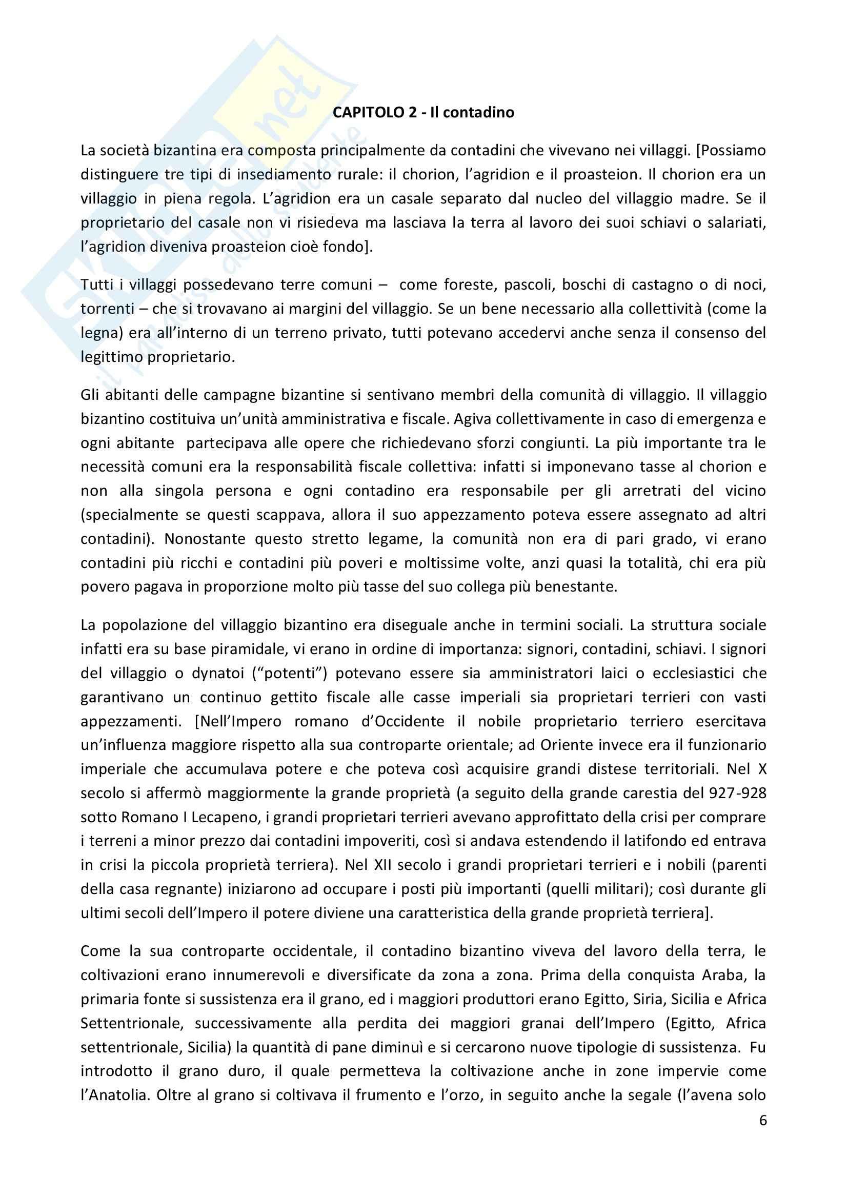 Riassunto esame Civiltà Bizantina, prof. Paroli, libro consigliato L'uomo bizantino, Cavallo Pag. 6