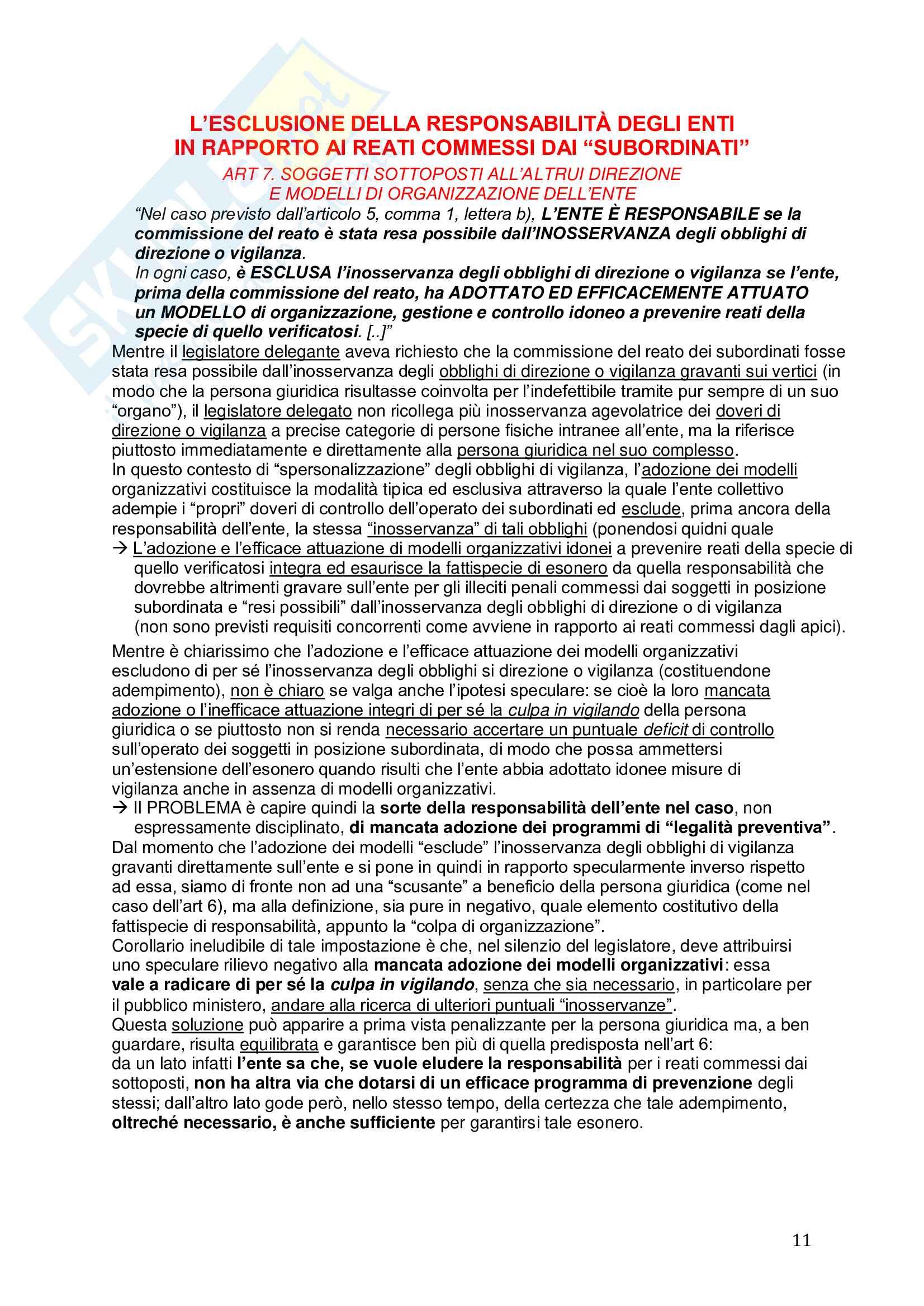 Riassunto esame Diritto, prof. Picotti, libro consigliato La responsabilità penale delle persone giuridiche, De Vero Pag. 11