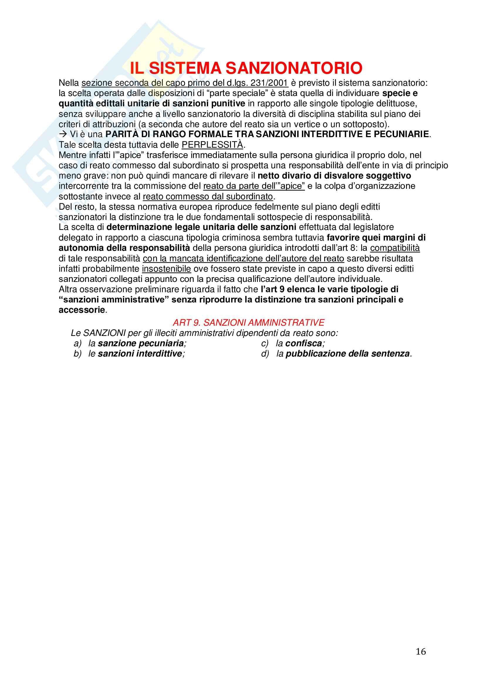 Riassunto esame Diritto, prof. Picotti, libro consigliato La responsabilità penale delle persone giuridiche, De Vero Pag. 16