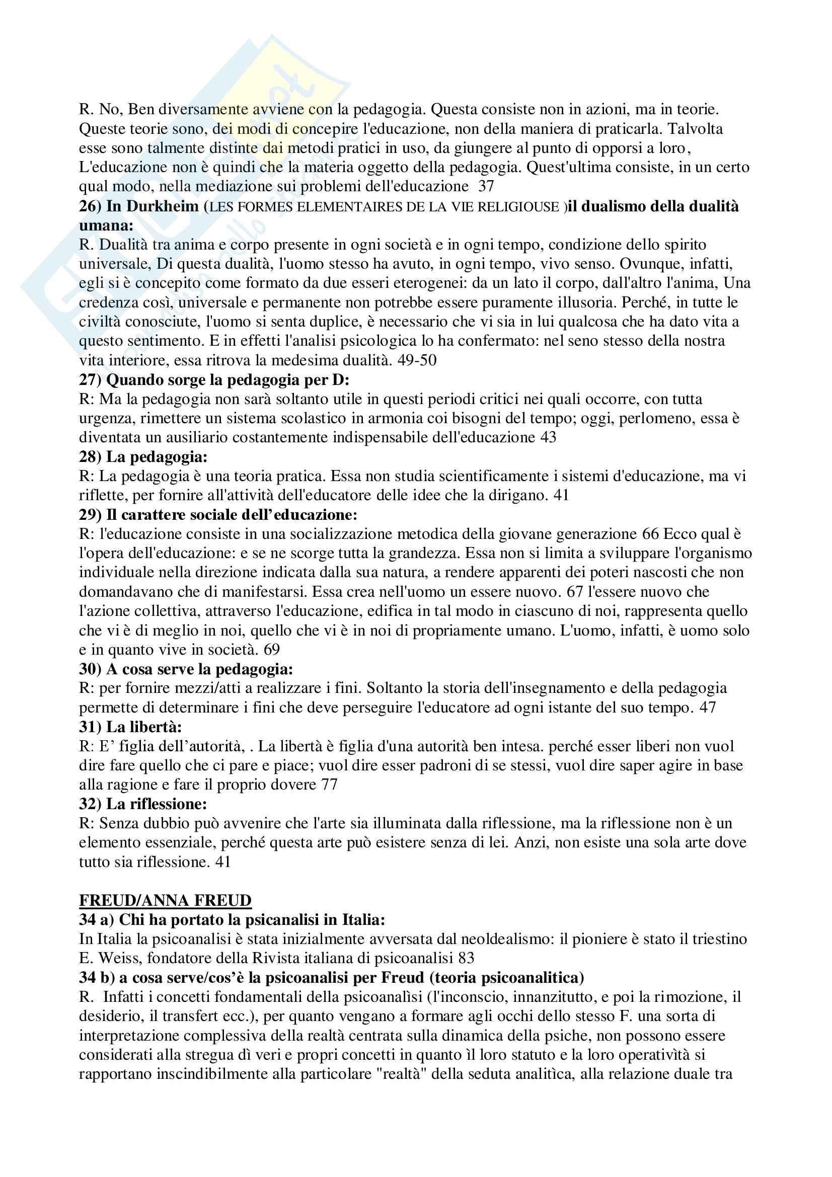 Domande e risposte pedagogia generale e libro L'Emilio Pag. 2
