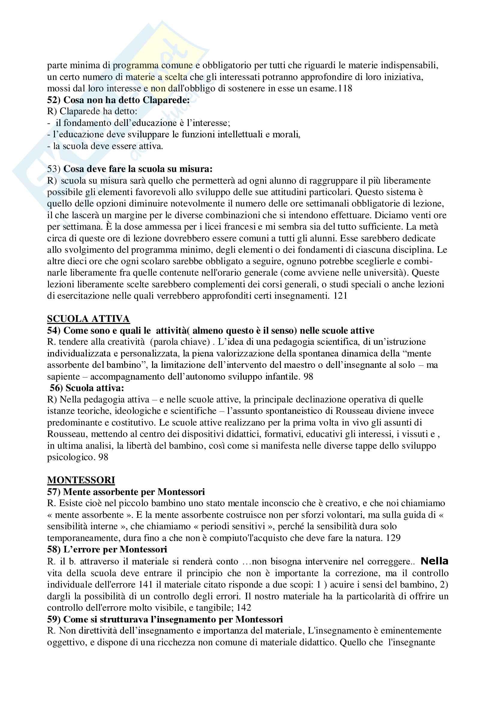 Domande e risposte pedagogia generale e libro L'Emilio Pag. 6