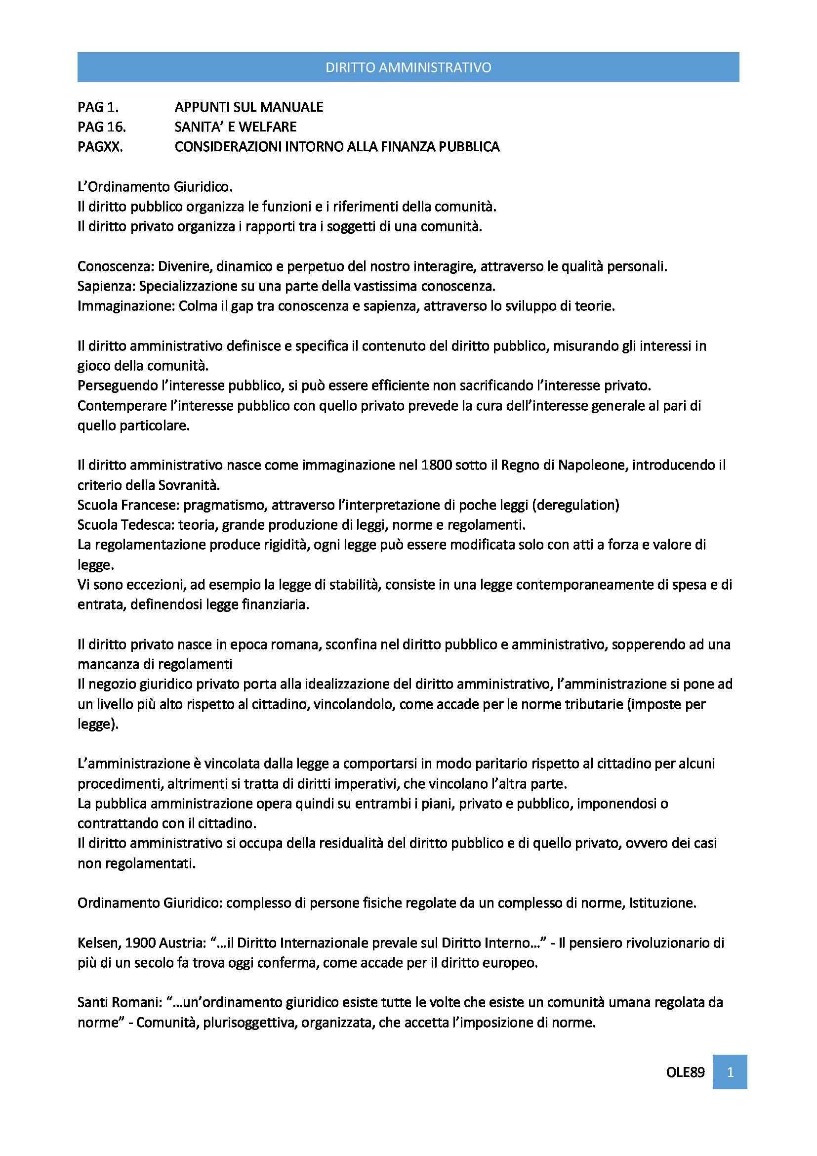 Diritto Amministrativo -Appunti