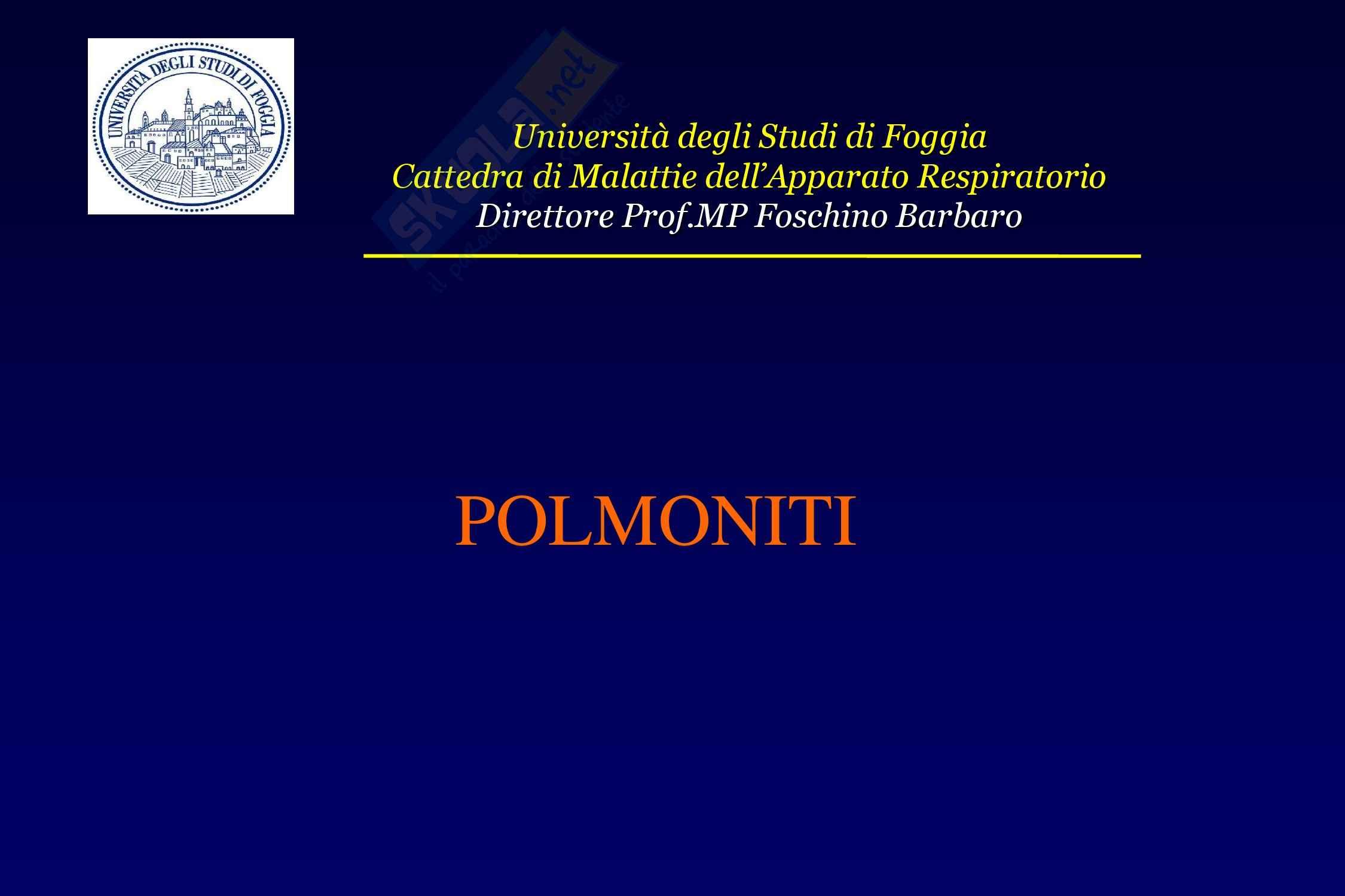 Polmoniti - Cause e fattori