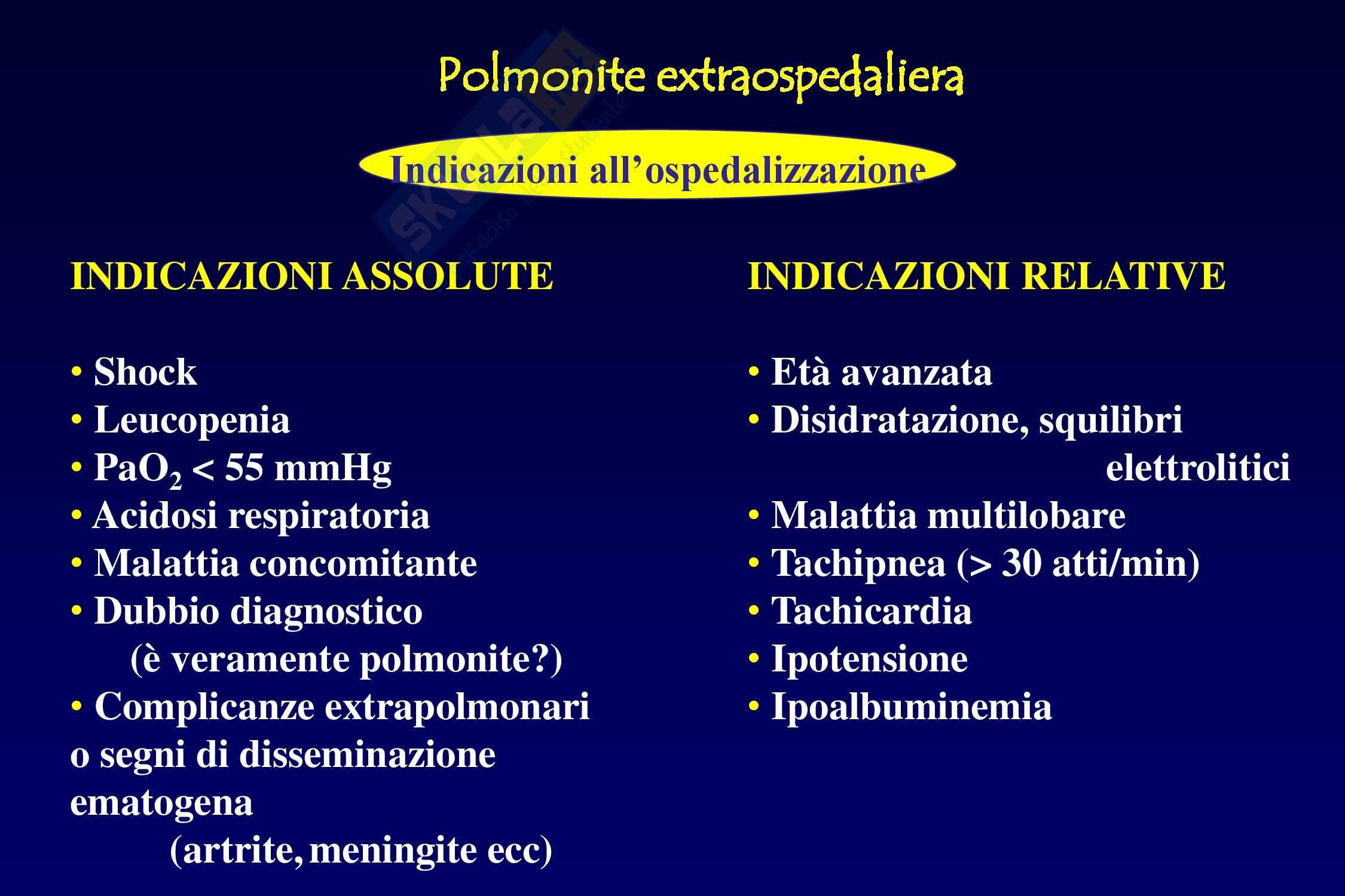 Polmoniti - Cause e fattori Pag. 21