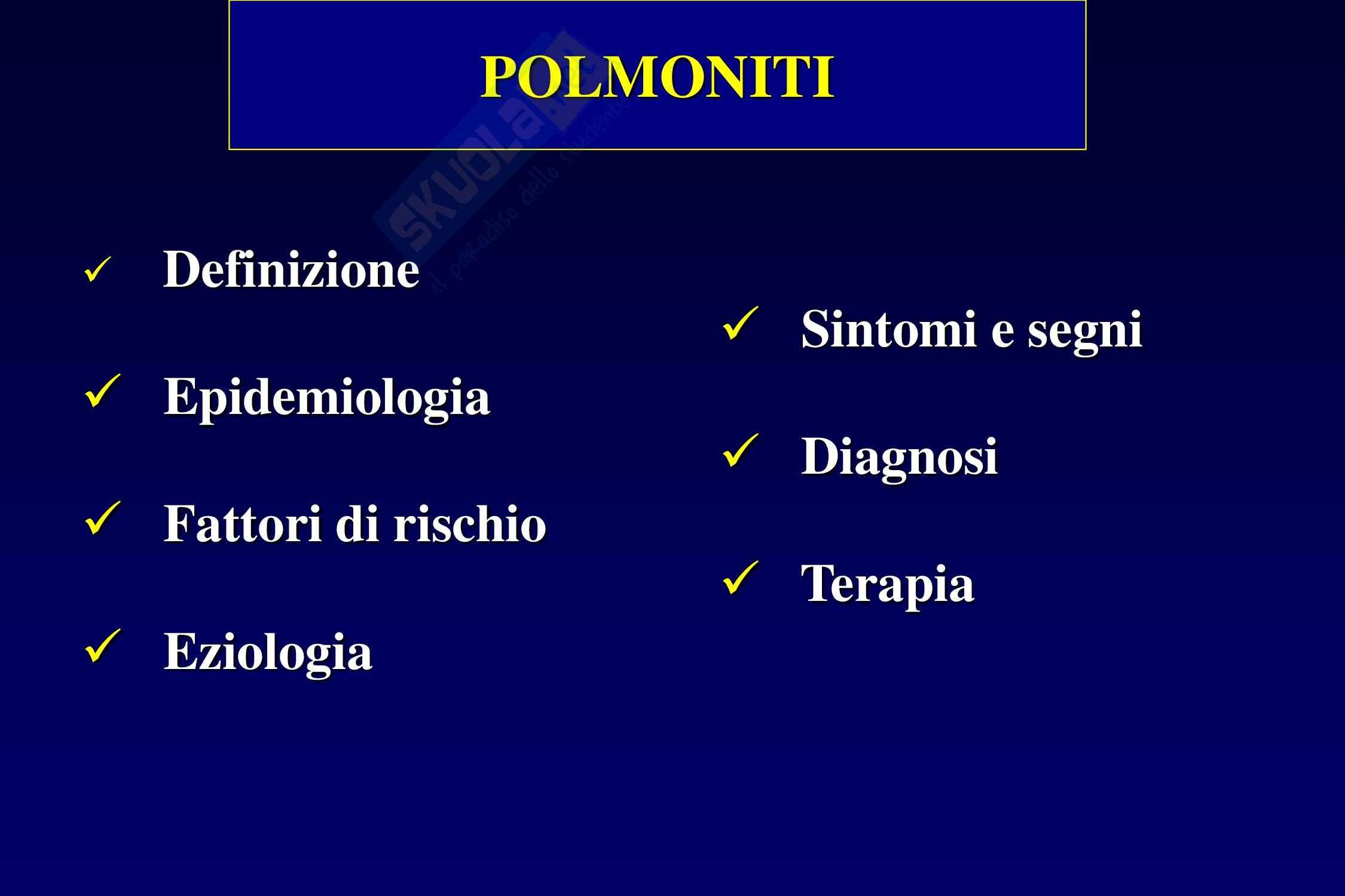Polmoniti - Cause e fattori Pag. 6