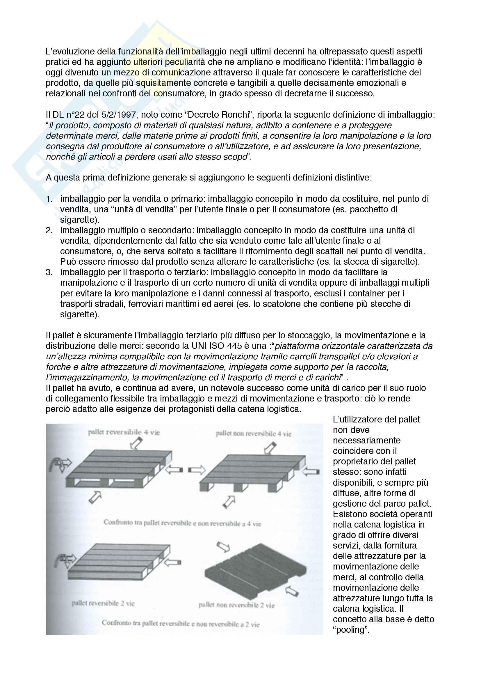 Lezioni: Appunti di Logistica Industriale Pag. 6