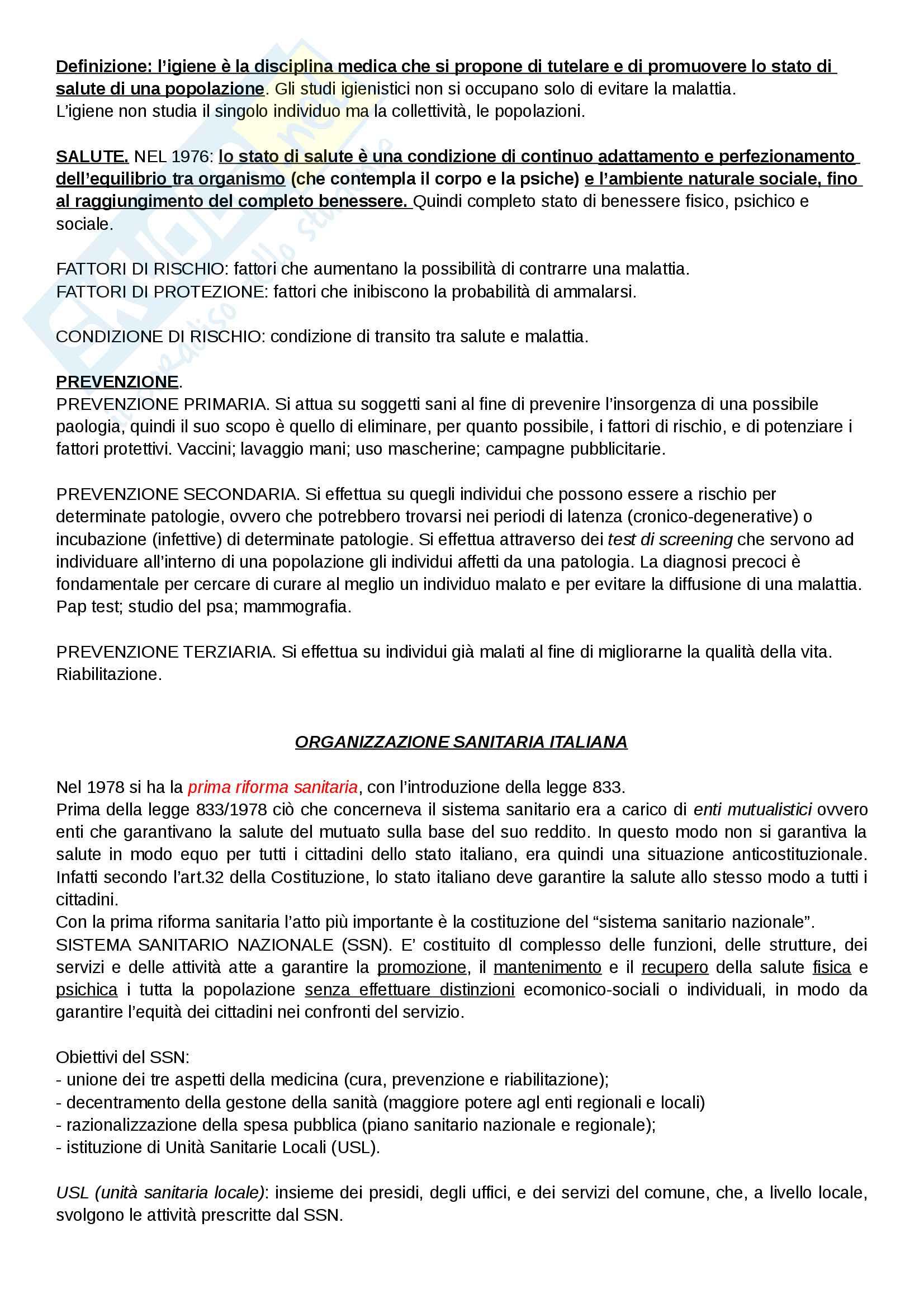 appunto C. Protano Igiene