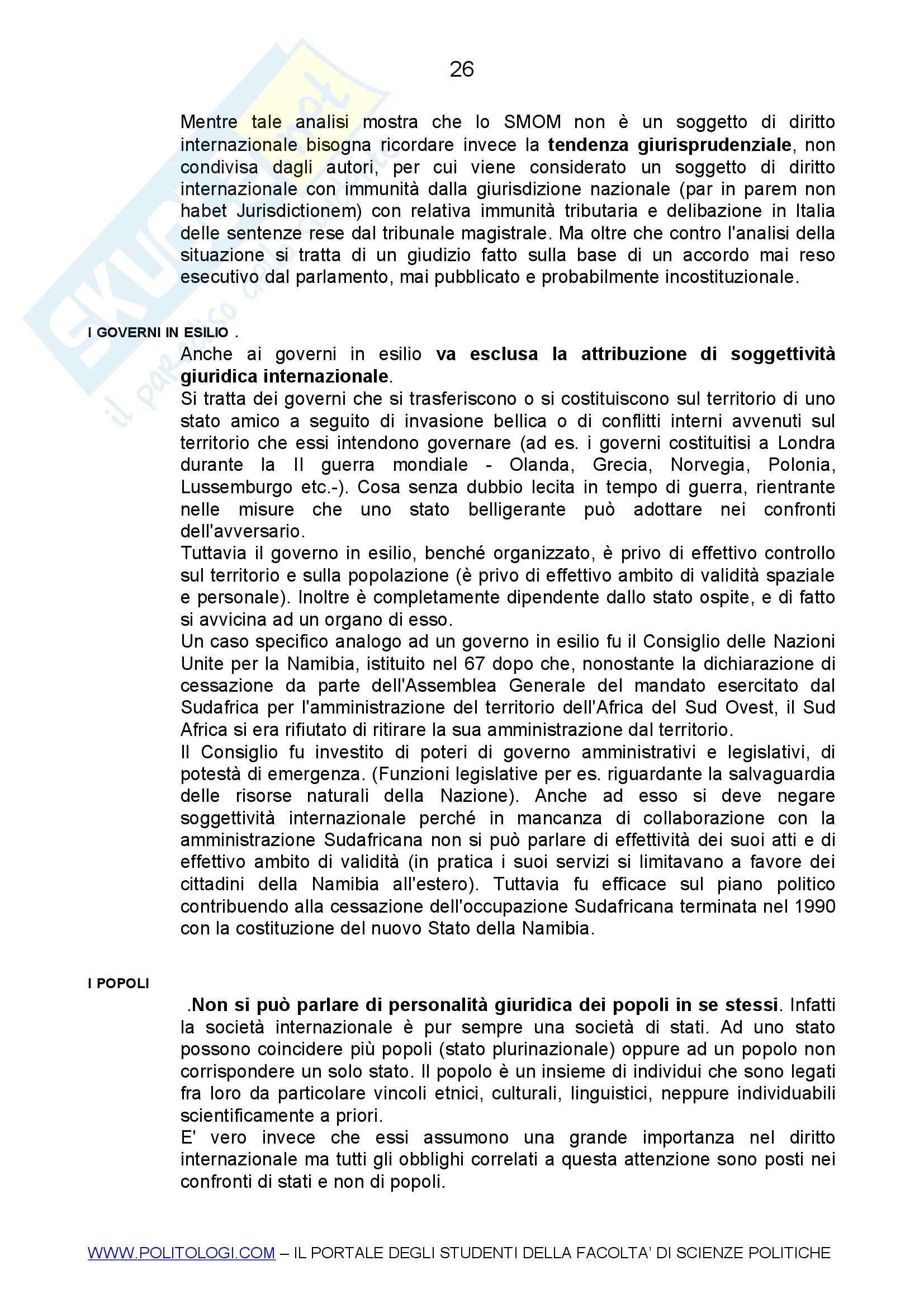Diritto internazionale Pag. 26