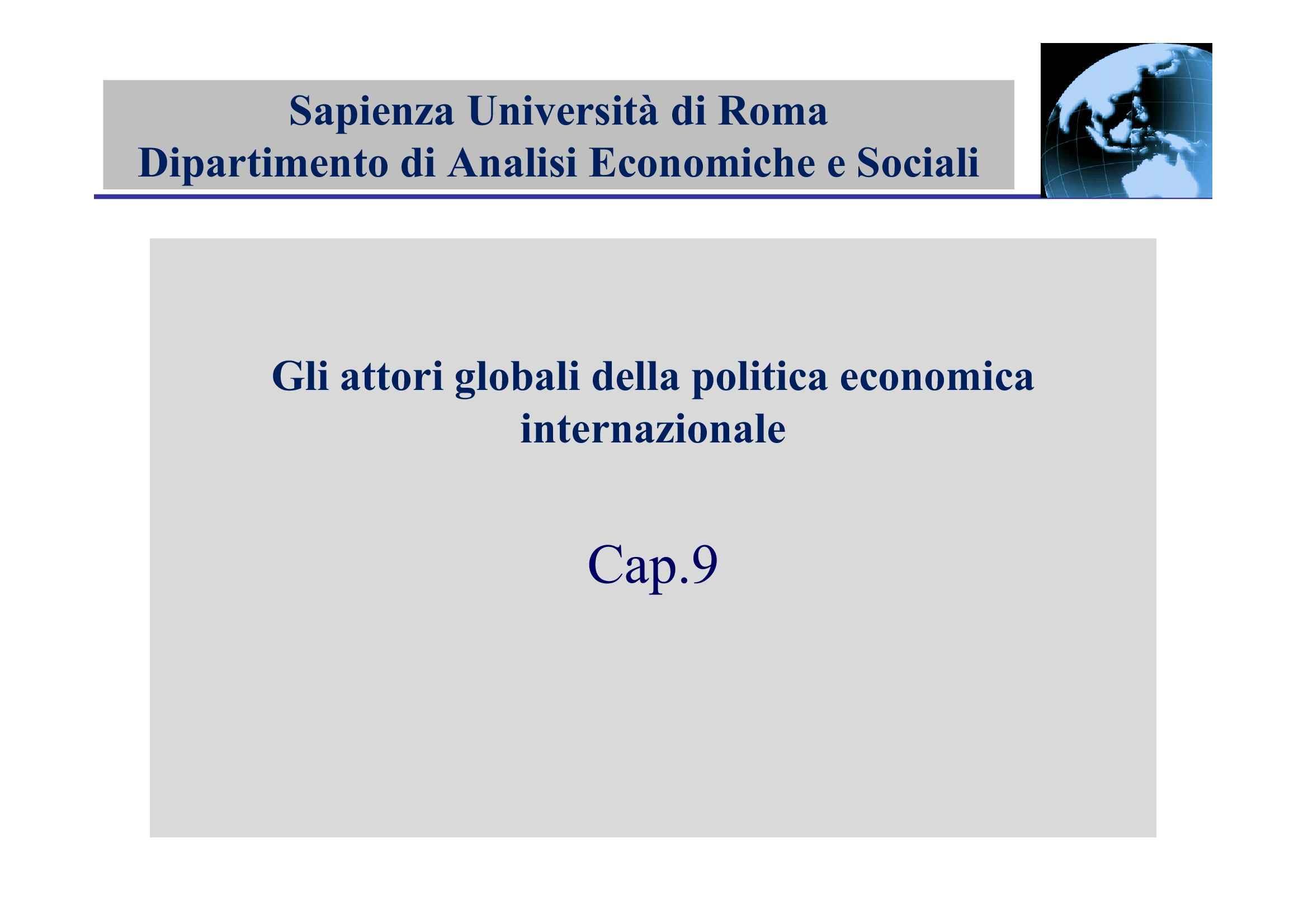 Istituzioni economiche internazionali