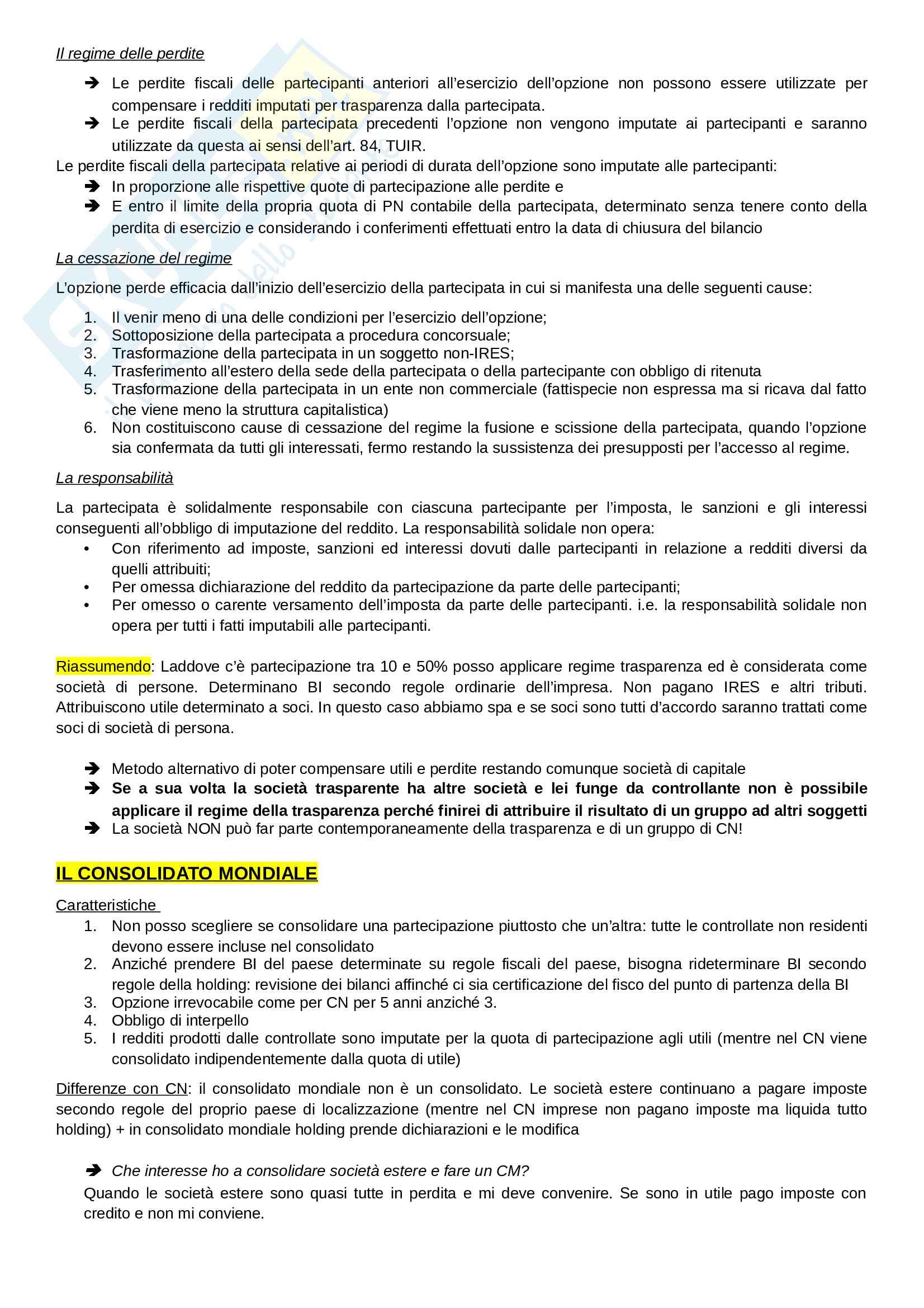 Appunti esame diritto tributario dei gruppi internazioni Pag. 2