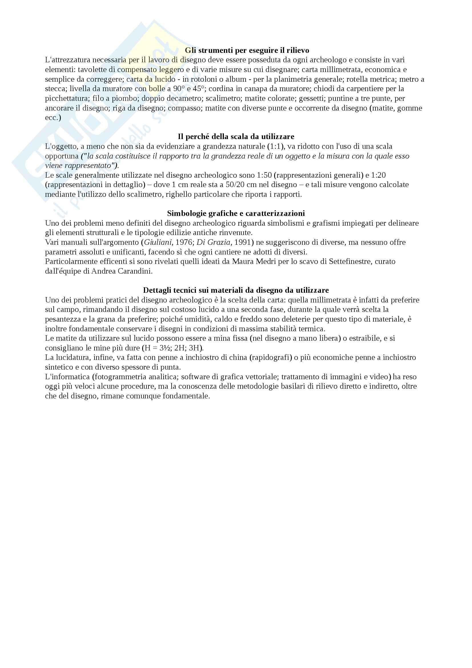 Riassunto esame Metodi e strategie dello scavo archeologico, prof. Martorelli, libro consigliato Tronchetti Pag. 11