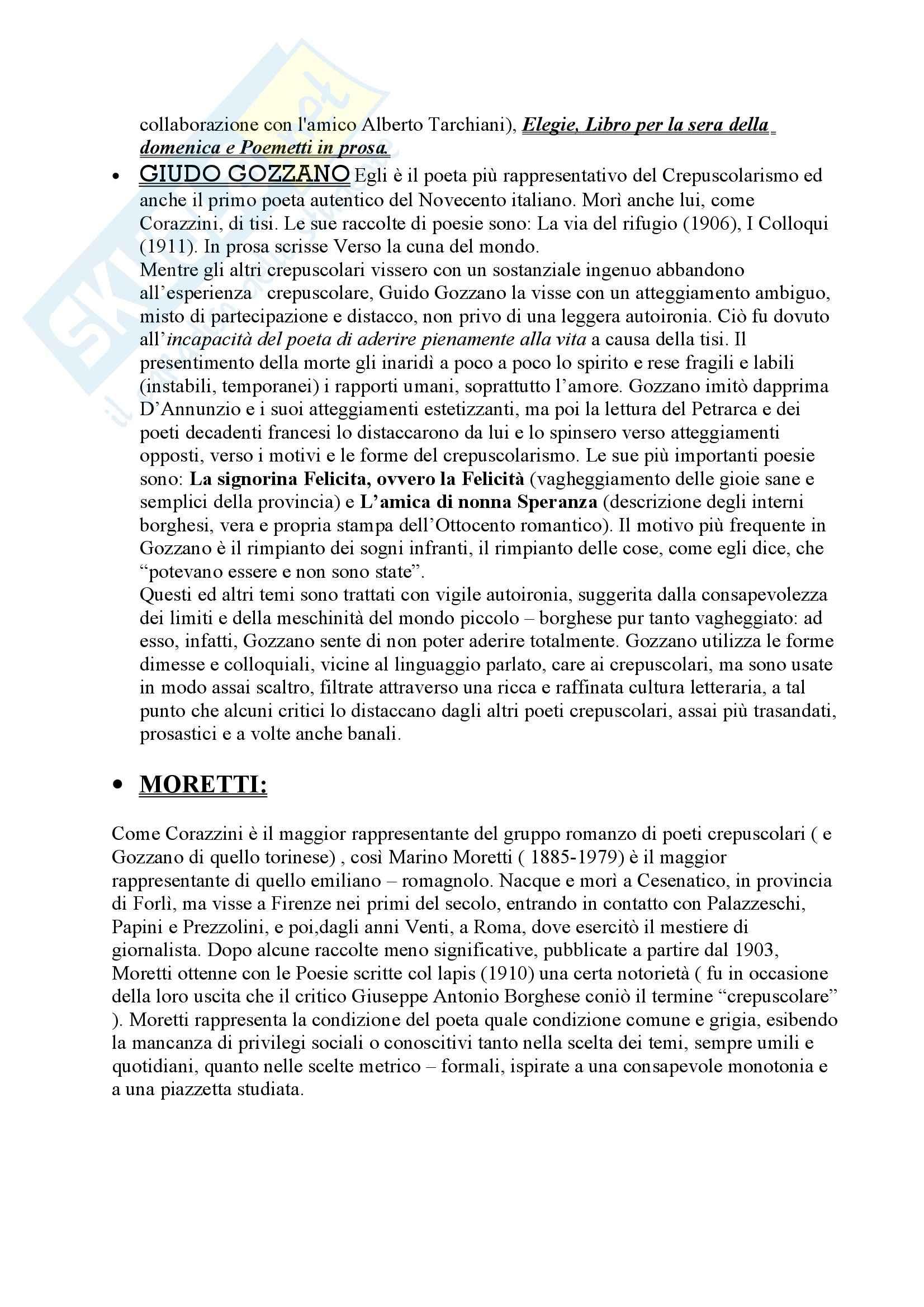 Riassunto esame Letteratura, libro adottato Letteratura, storia, immaginario, Luperini Pag. 6