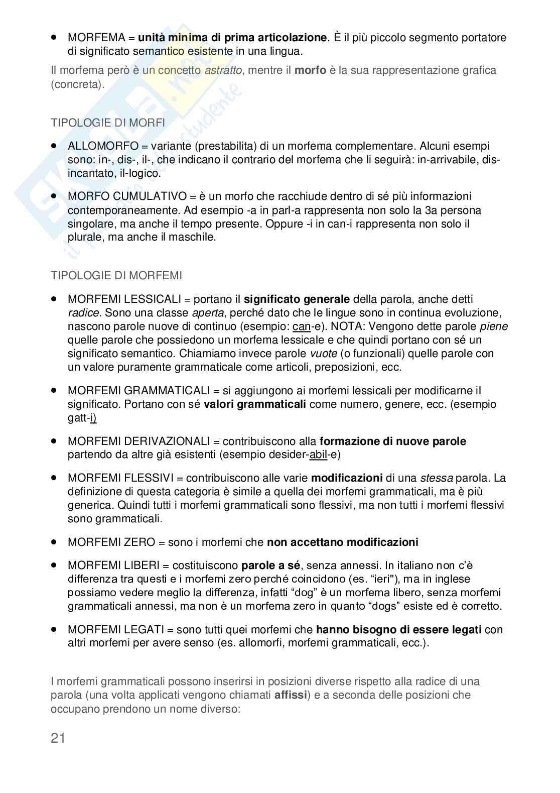 Appunti Linguistica Generale Pag. 21