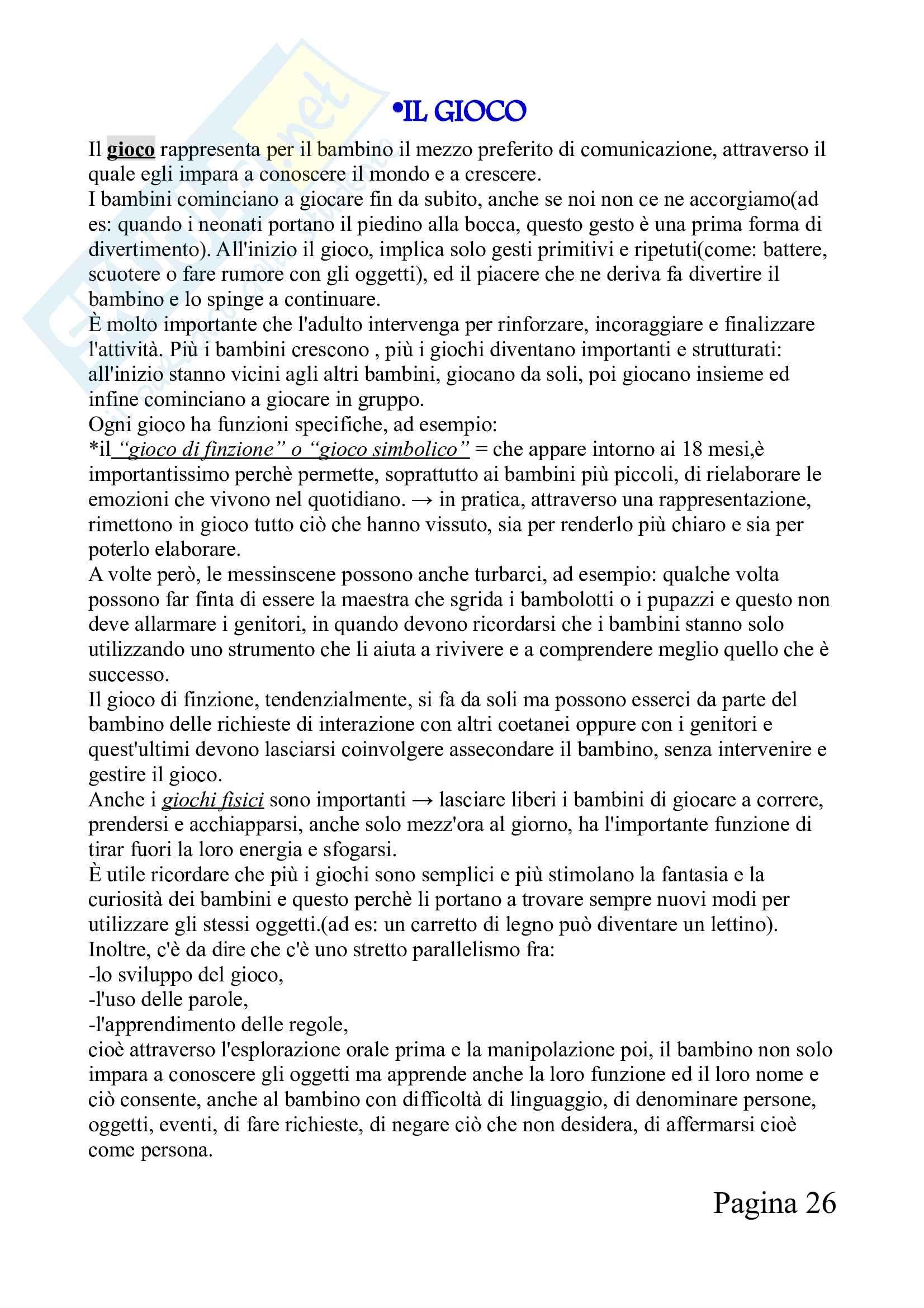 Riassunto,fatto bene, esame Psicologia dello sviluppo, prof.ssa Verrastro,libro consigliato Comunicazione trattamento e modelli familiari in psicologia dell'età evolutiva Pag. 26