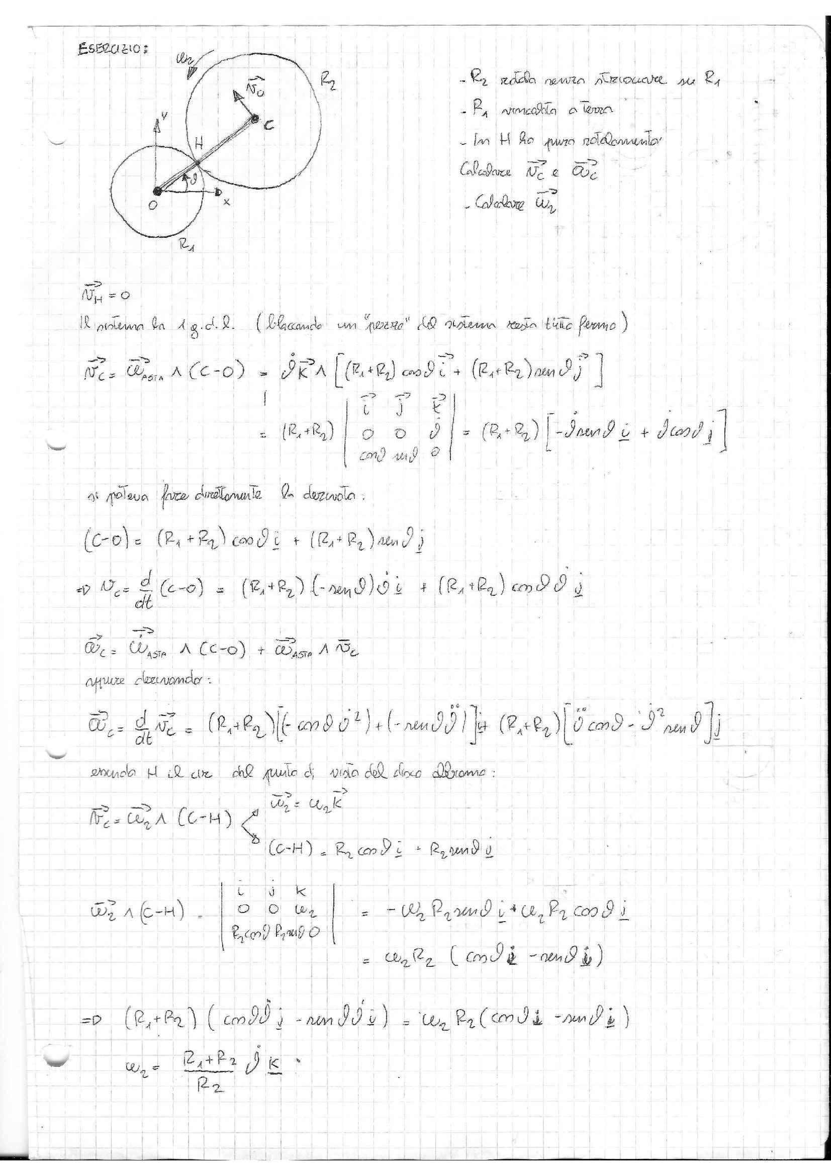 Meccanica razionale - Esercizi