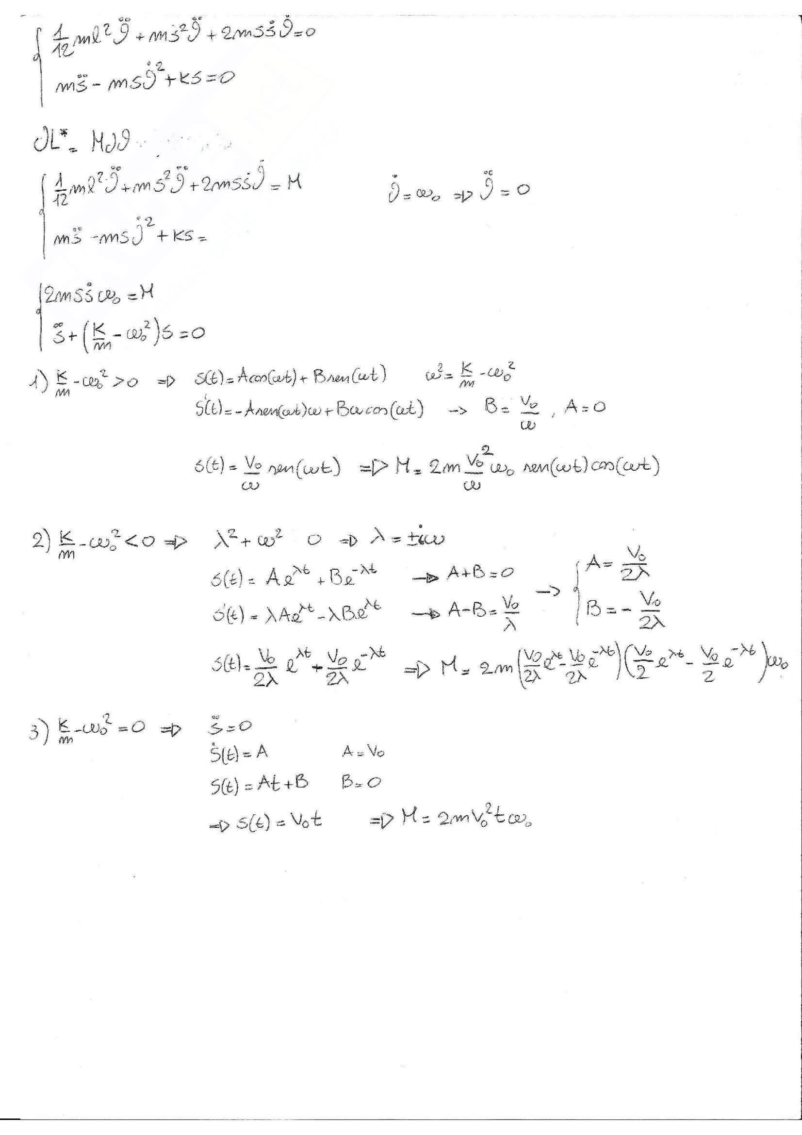 Meccanica razionale - Esercizi Pag. 81