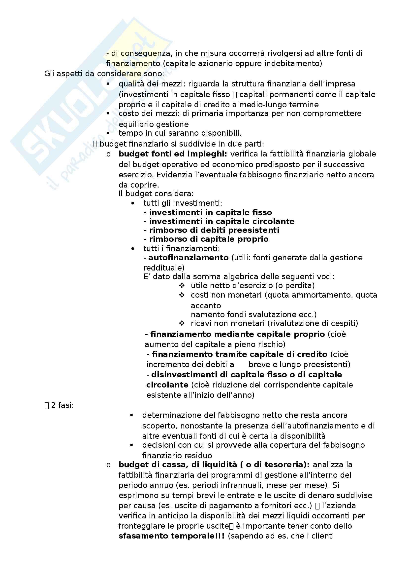 Programmazione e controllo - Appunti Pag. 46