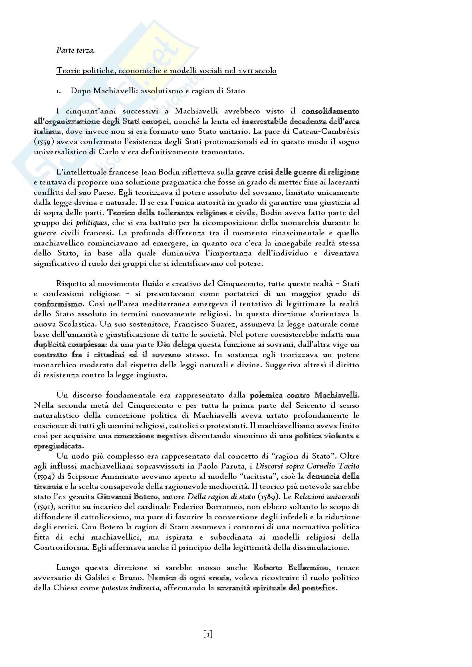 Riassunto esame del Manuale di storia moderna. L' età moderna (1660-1815) di Ricuperati, Ieva, prof. Carpanetto