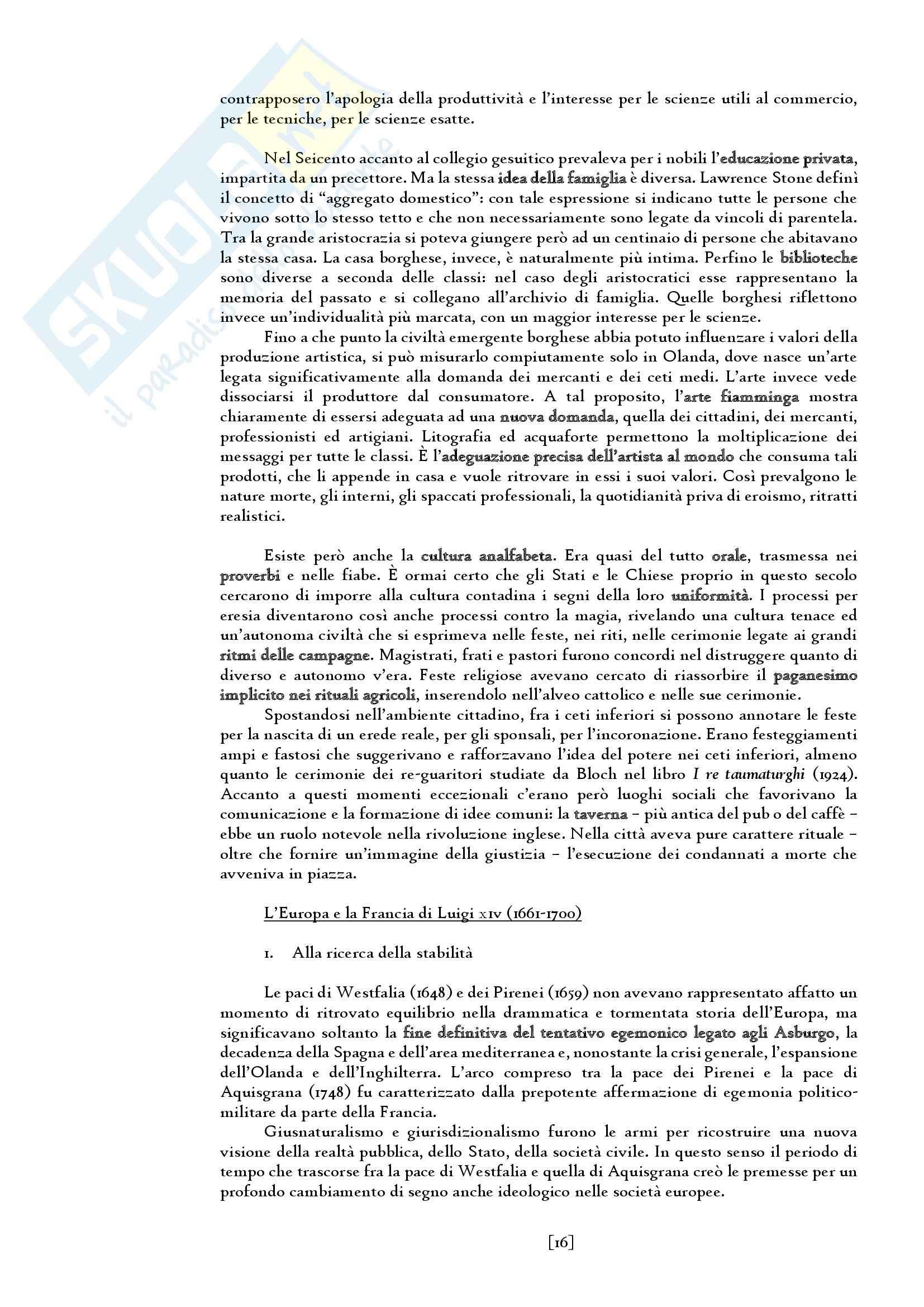 Riassunto esame del Manuale di storia moderna. L' età moderna (1660-1815) di Ricuperati, Ieva, prof. Carpanetto Pag. 16