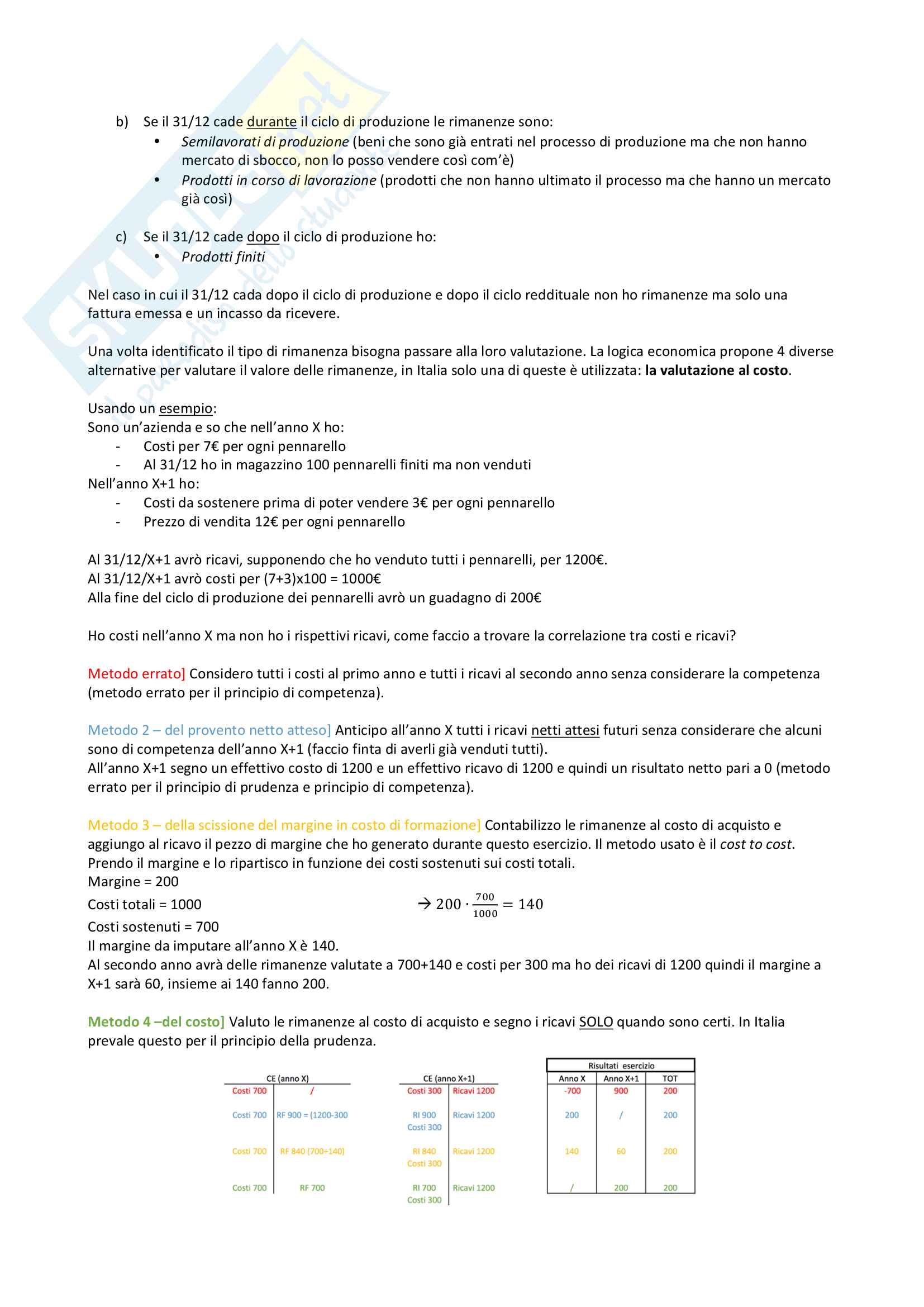 Valutazione delle rimanenze Pag. 2