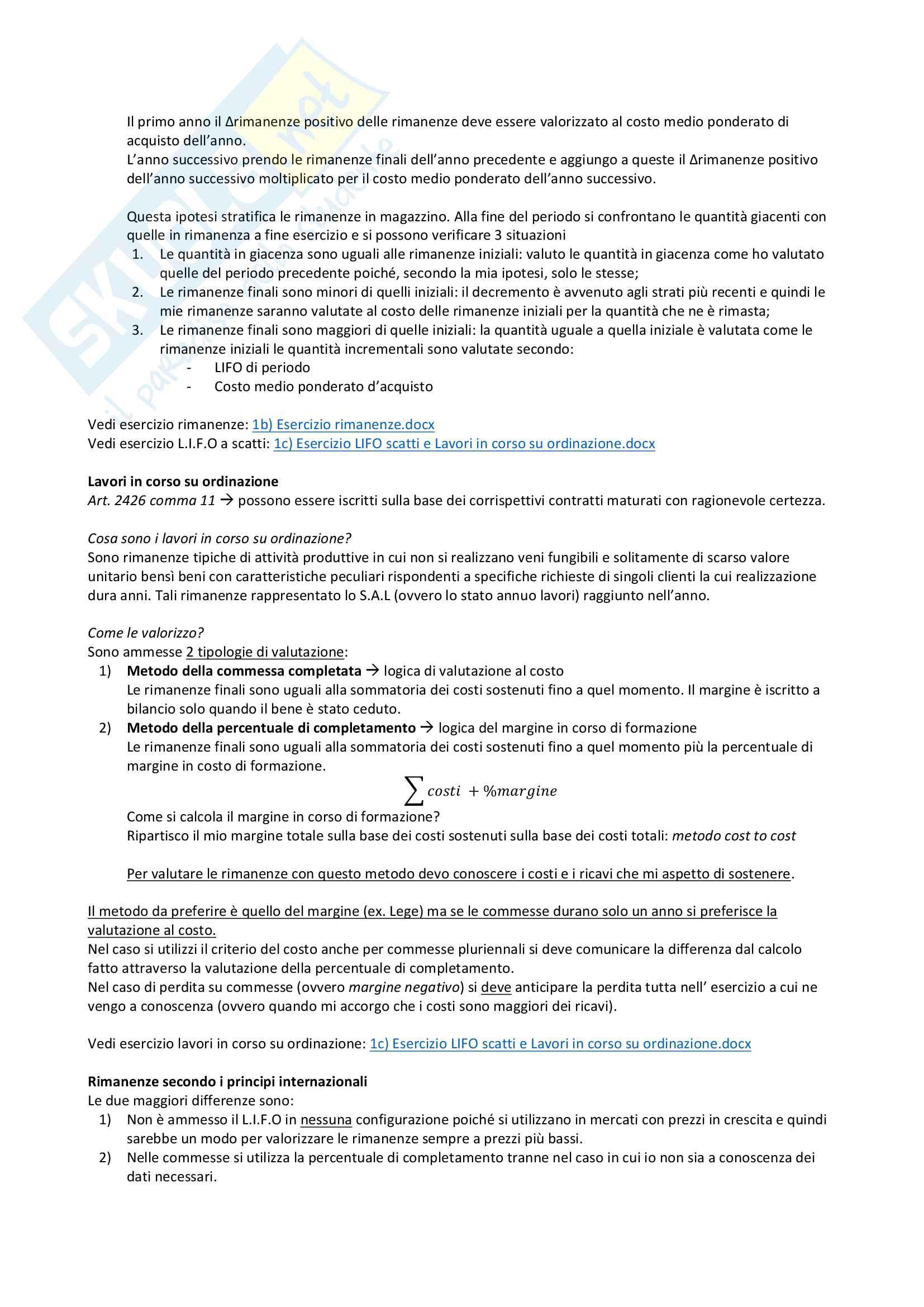 Valutazione delle rimanenze Pag. 6