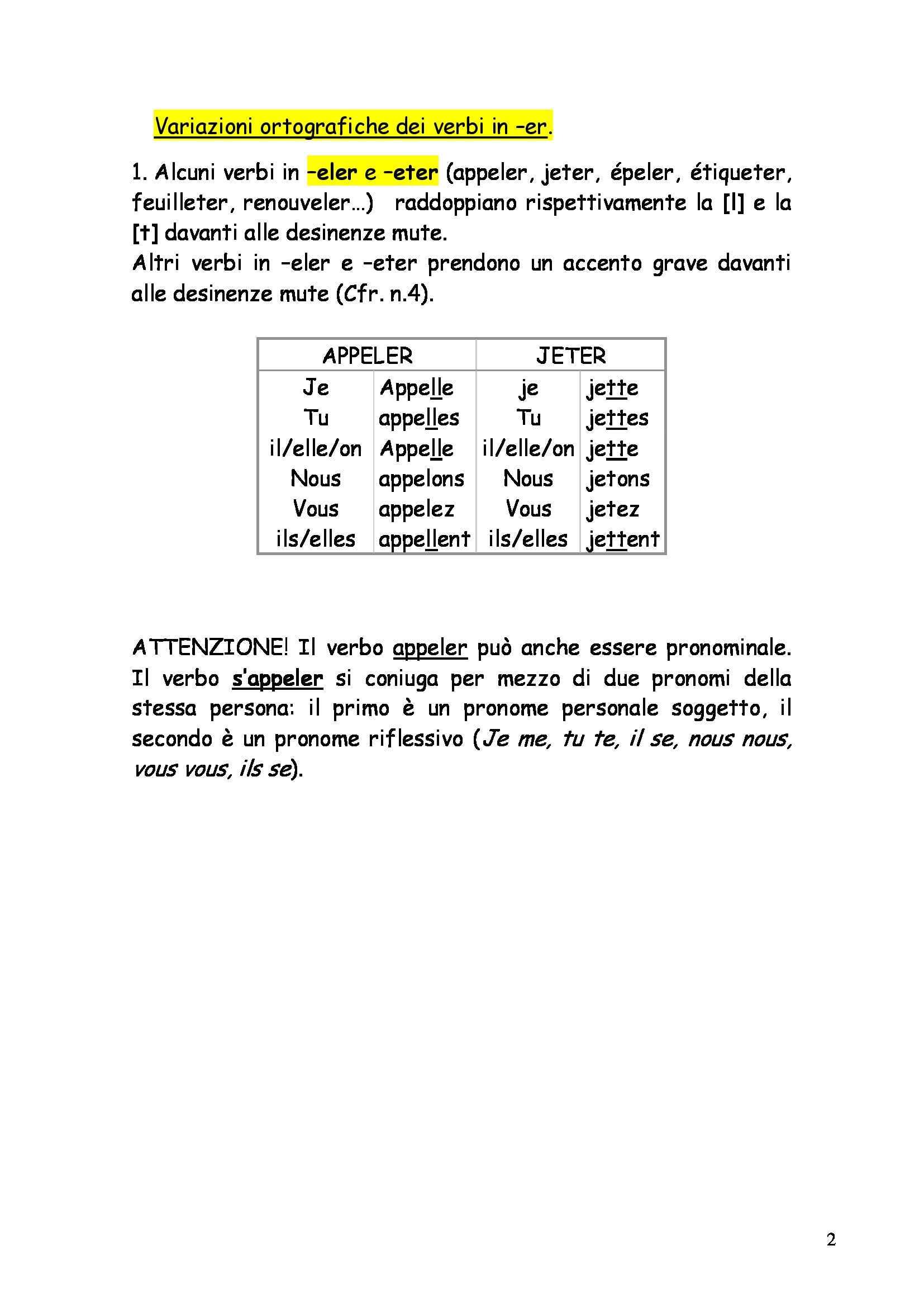 Lettorato di francese - Indicatif présent Pag. 2