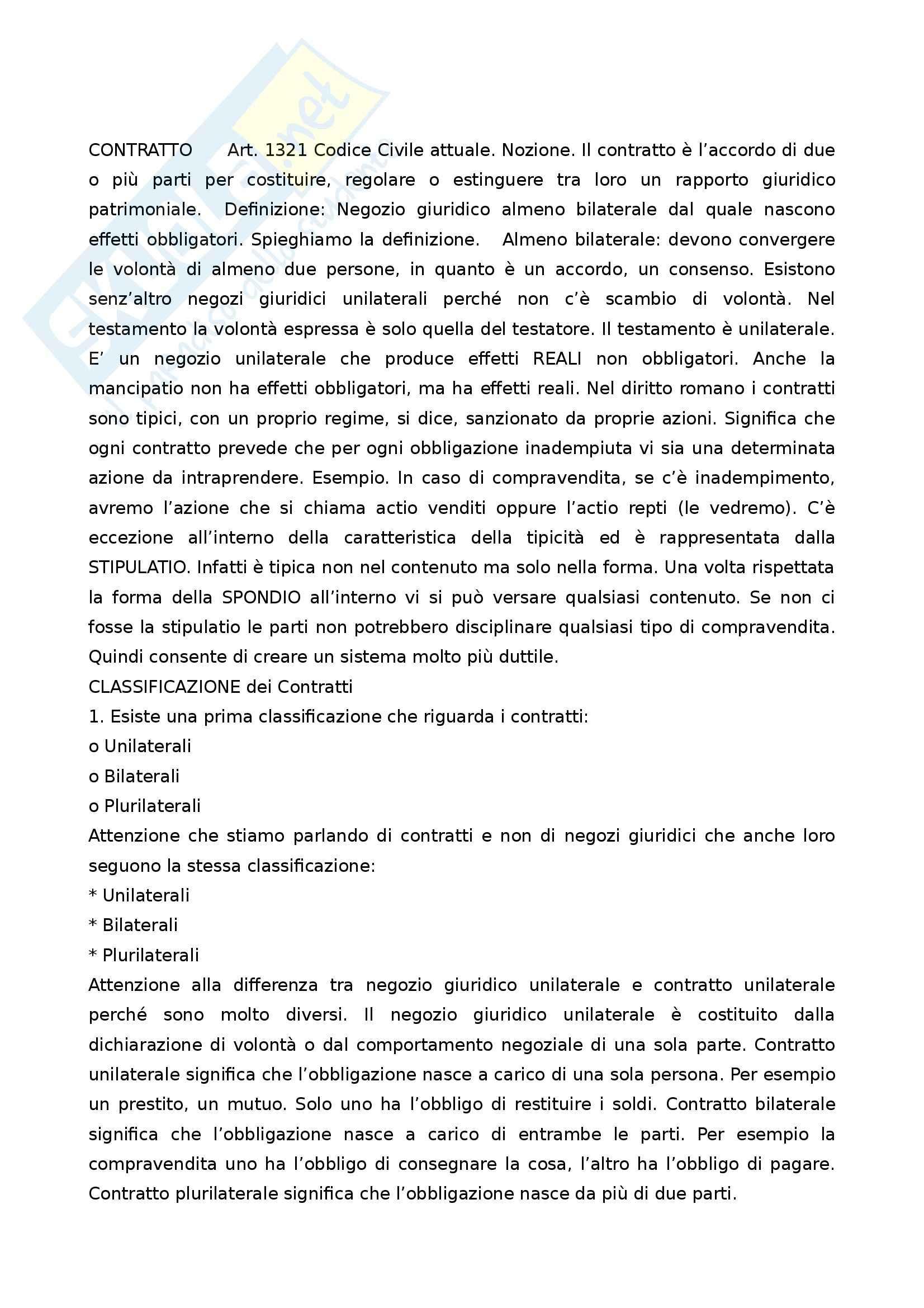 Diritto romano privato - storia del contratto e delle obbligazioni Pag. 46