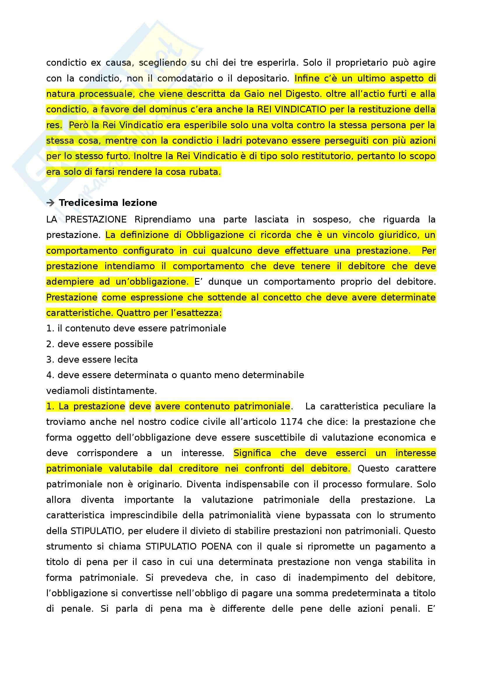 Diritto romano privato - storia del contratto e delle obbligazioni Pag. 61