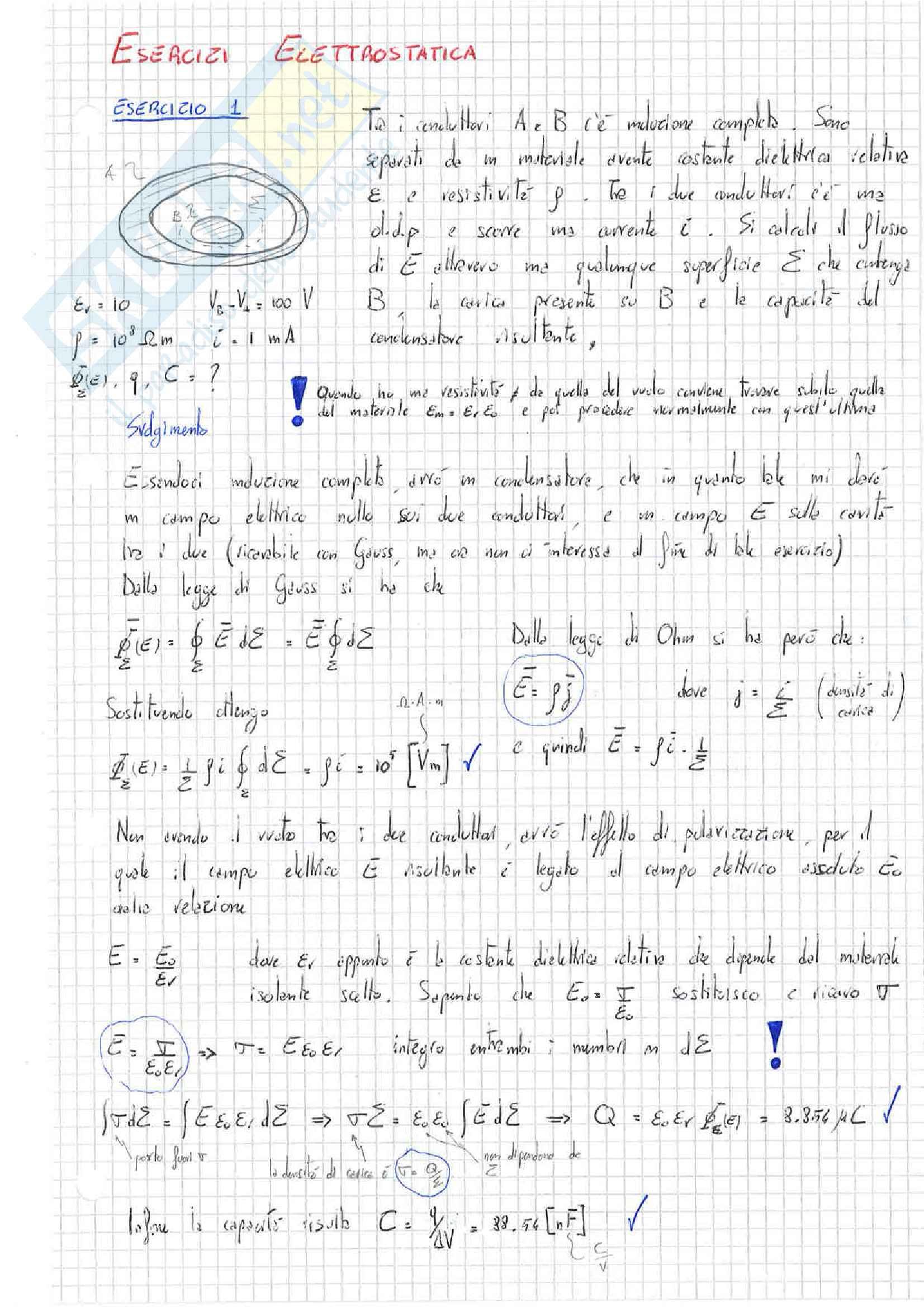 Fisica 2 - Esercizi