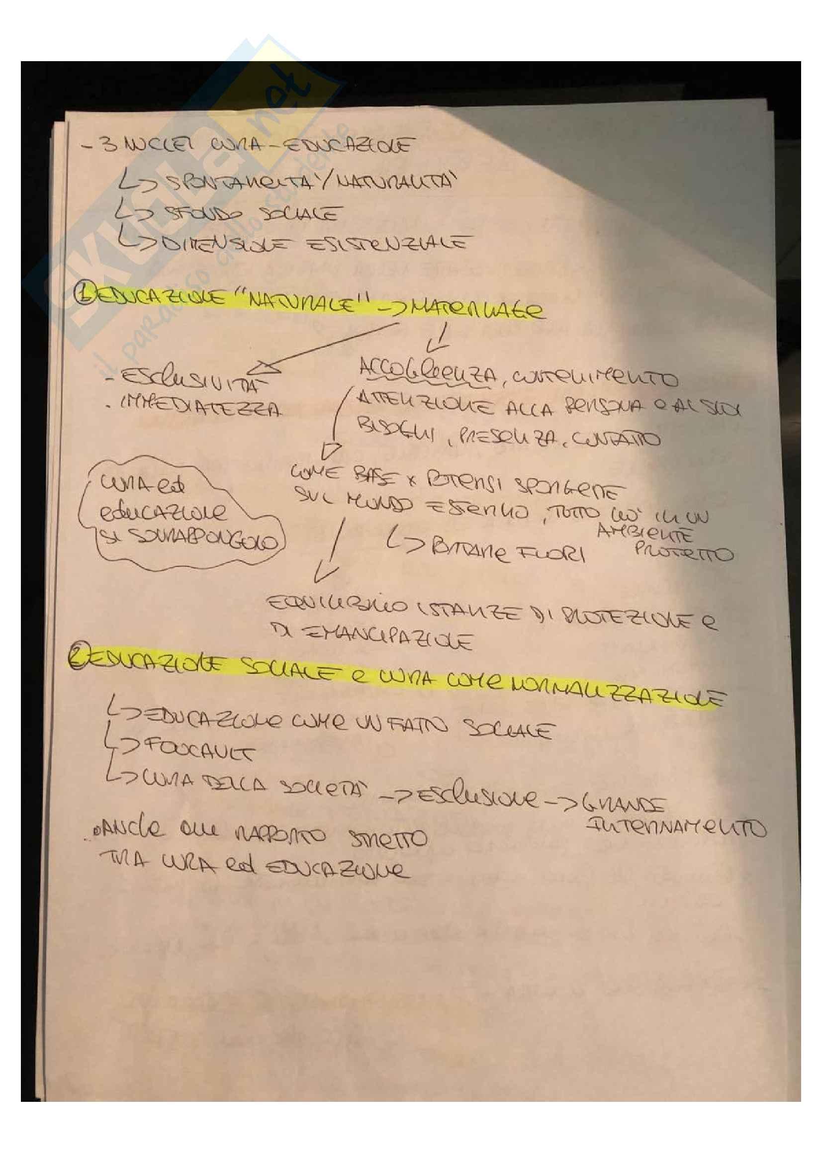 Riassunto esame didattica e pedagogia dell'inclusione, prof Palmieri, libro consigliato Un'esperienza di cui aver cura Pag. 2