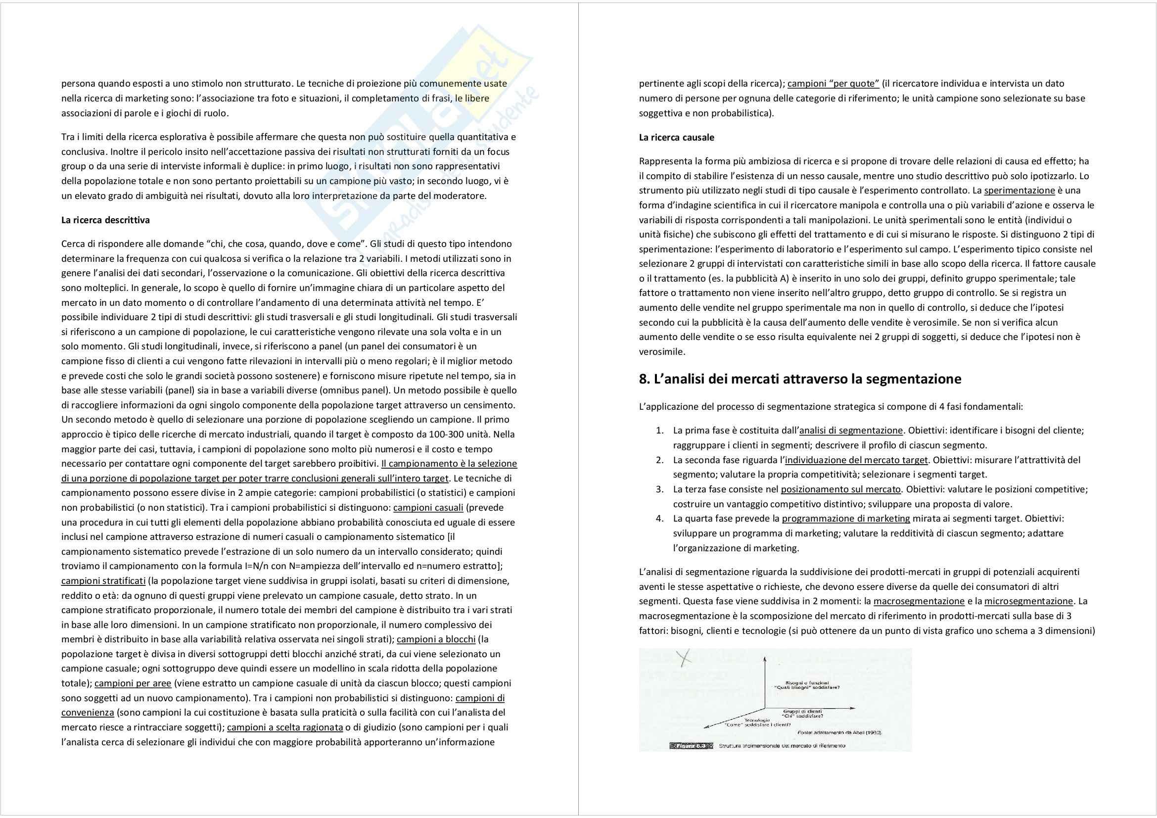 Riassunto esame Marketing, prof. Magliocca, libro consigliato Market driven management: marketing strategico e operativo, Lambin Pag. 11