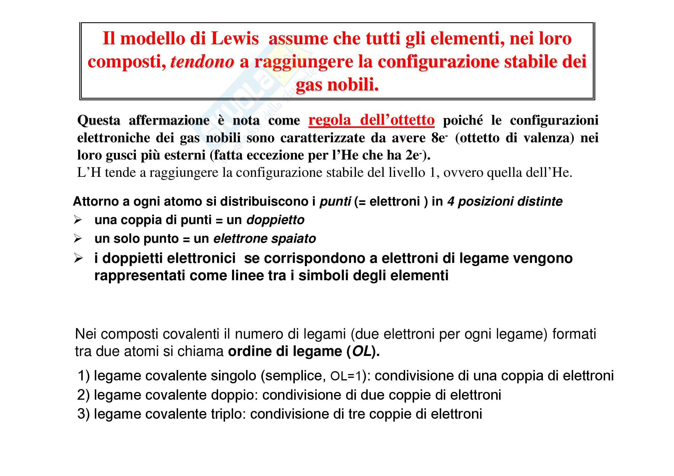 Chimica generale - le strutture di Lewis