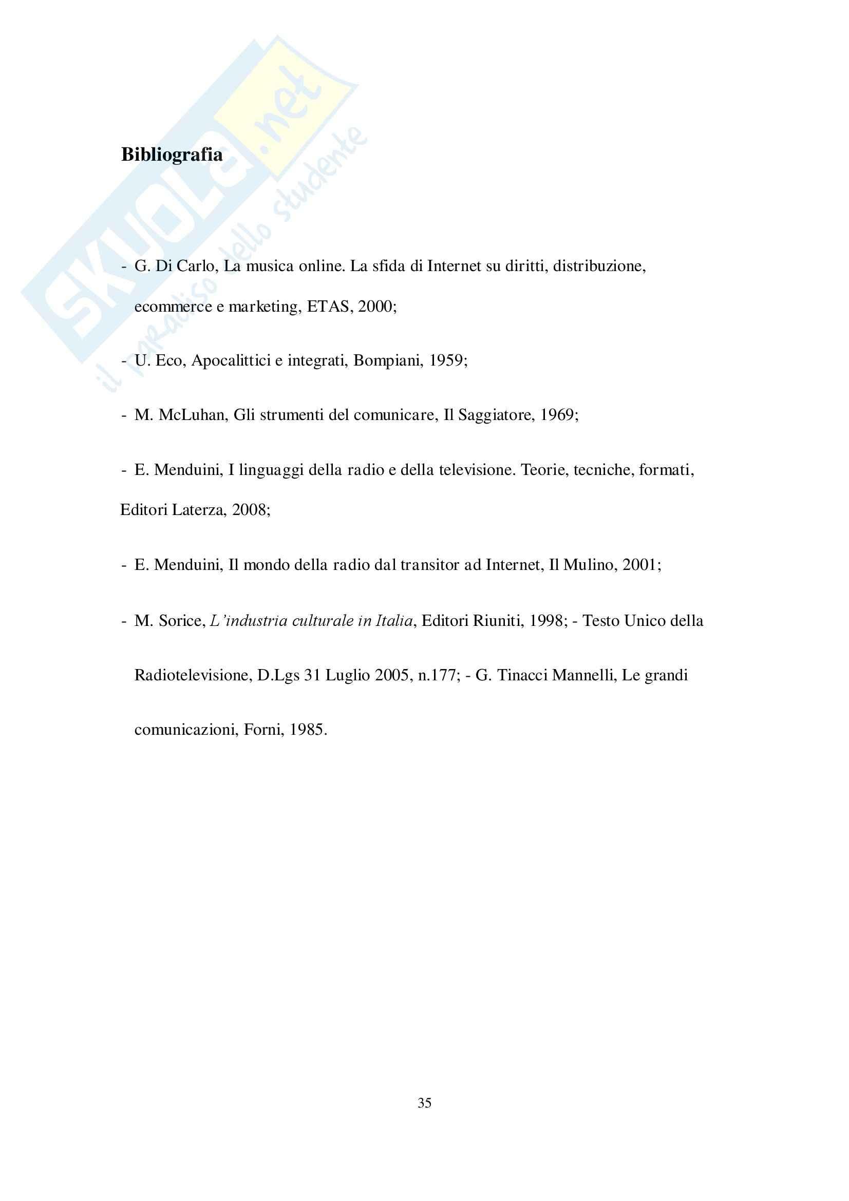Comunicazione Radiofonica, Economia e marketing Pag. 36