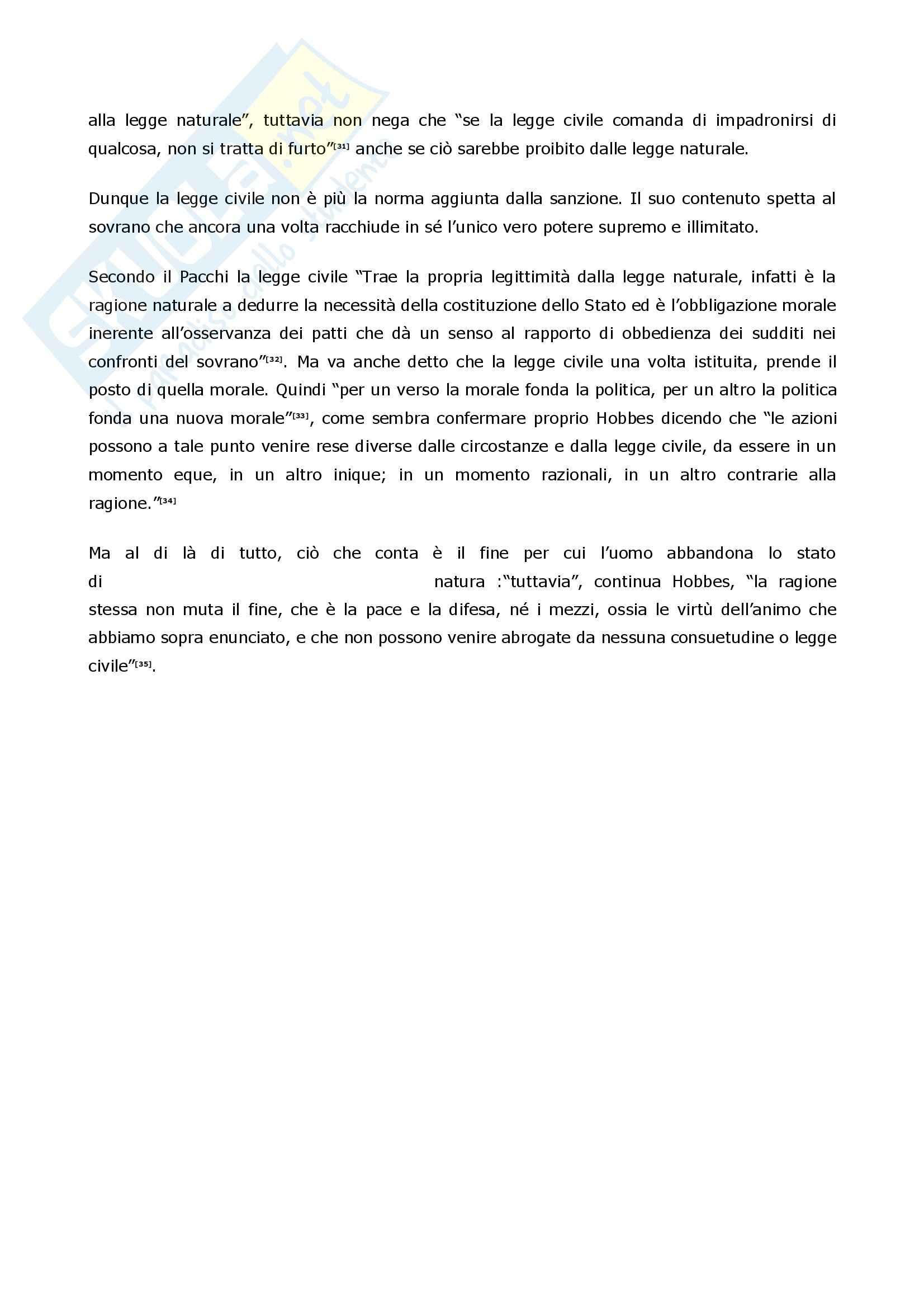 Filosofia delle scienze sociali – Hobbes Pag. 16