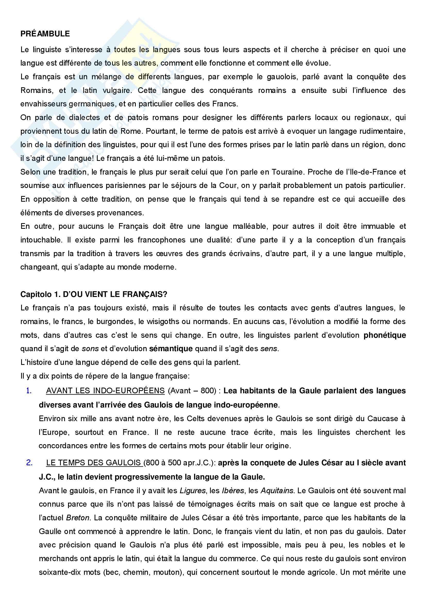 appunto P. Scienze letterarie Francese 3