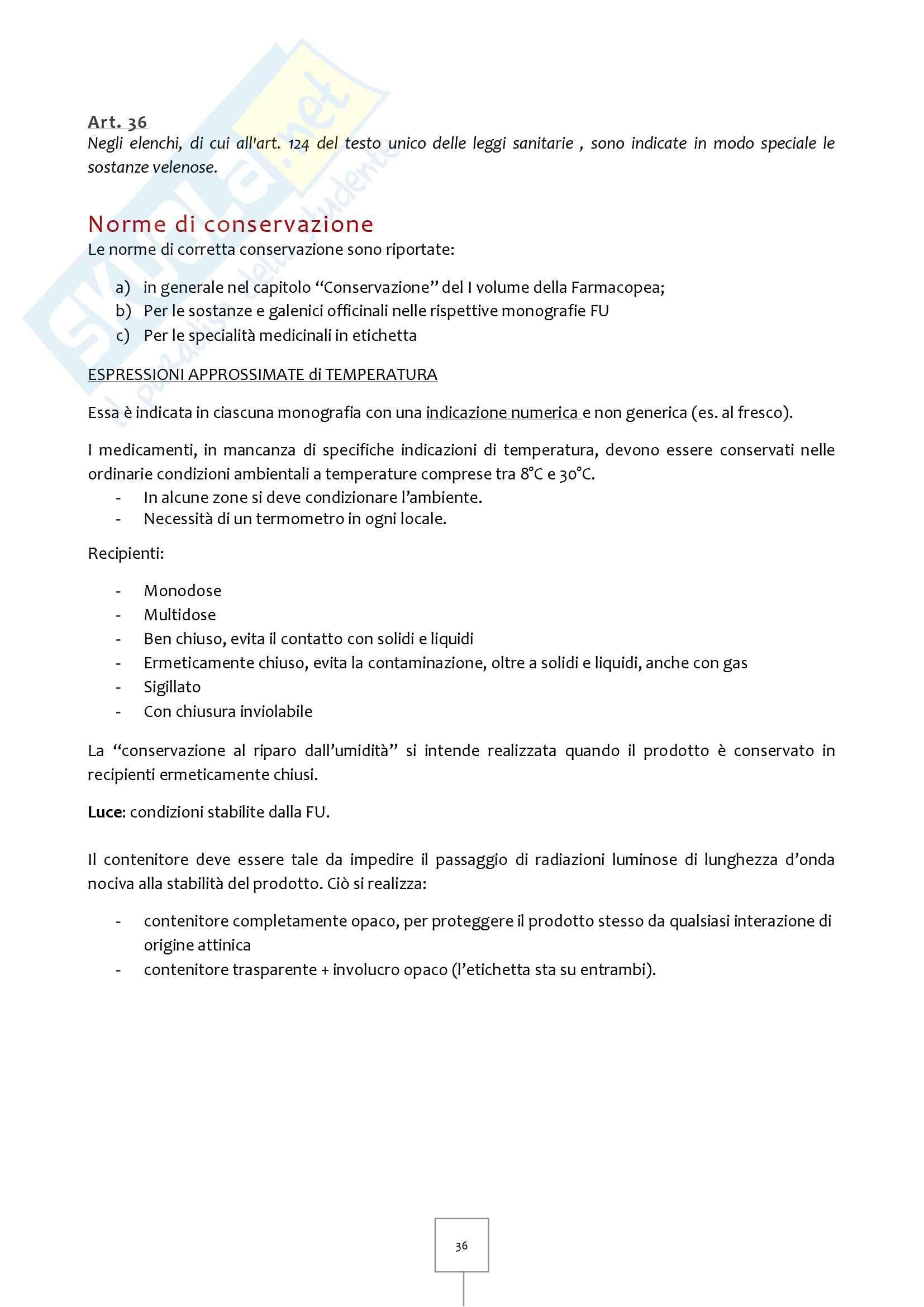 Legislazione Farmaceutica I - Appunti Pag. 36