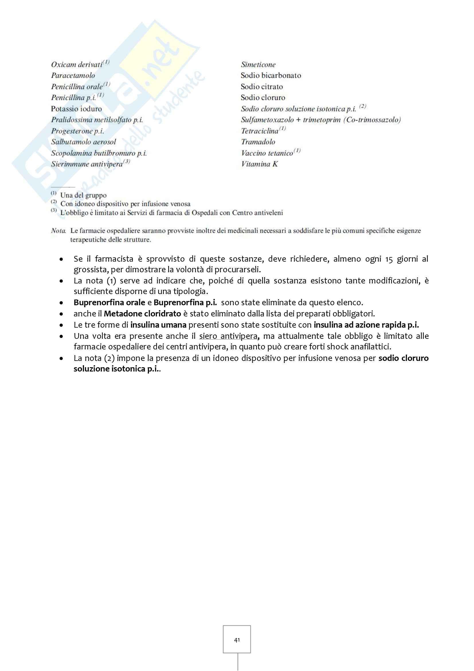 Legislazione Farmaceutica I - Appunti Pag. 41