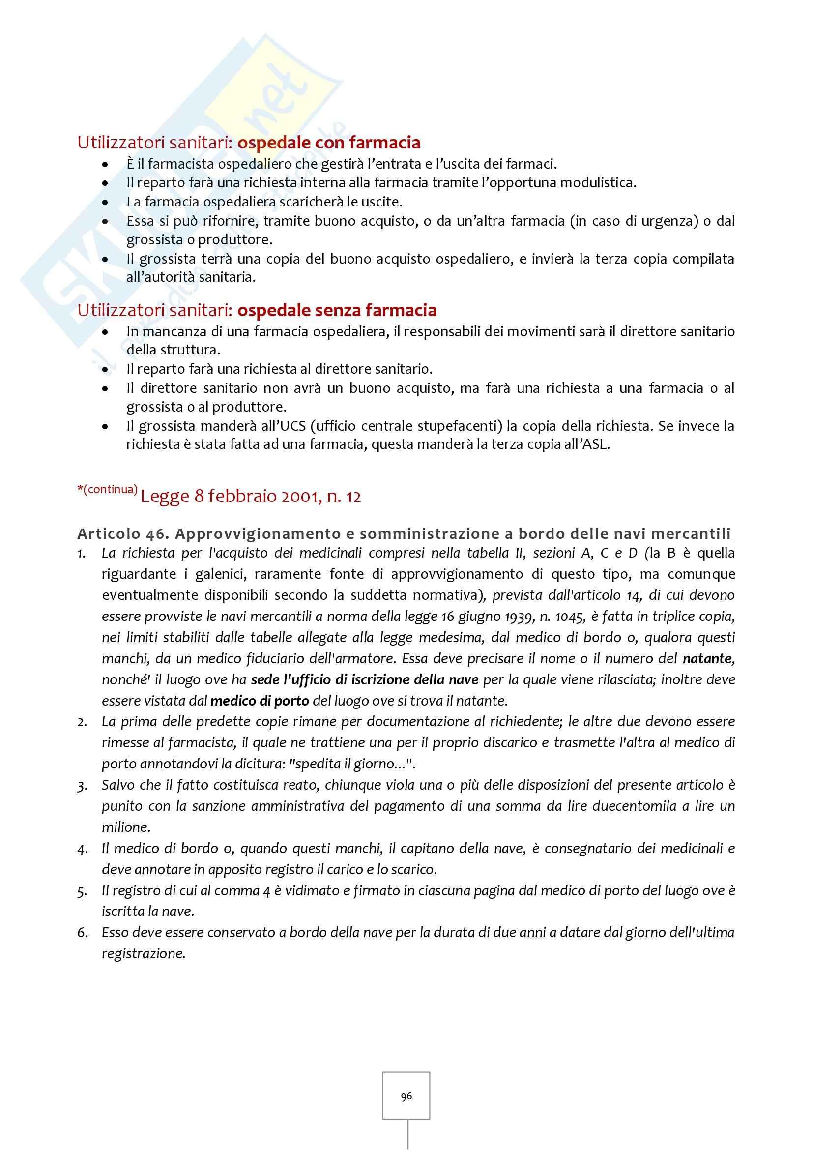 Legislazione Farmaceutica I - Appunti Pag. 96