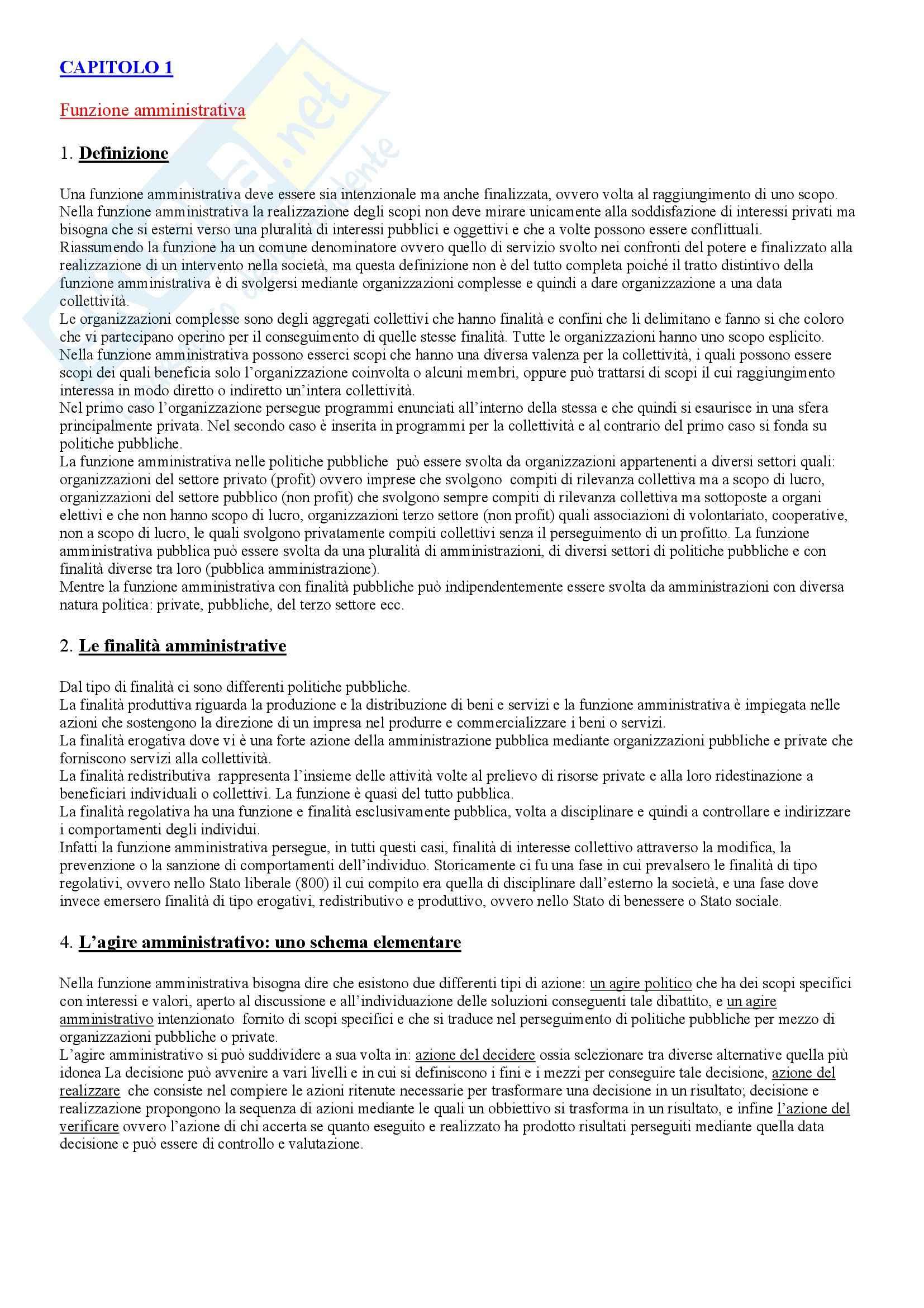 Scienza dell'amministrazione - Diritto amministrativo