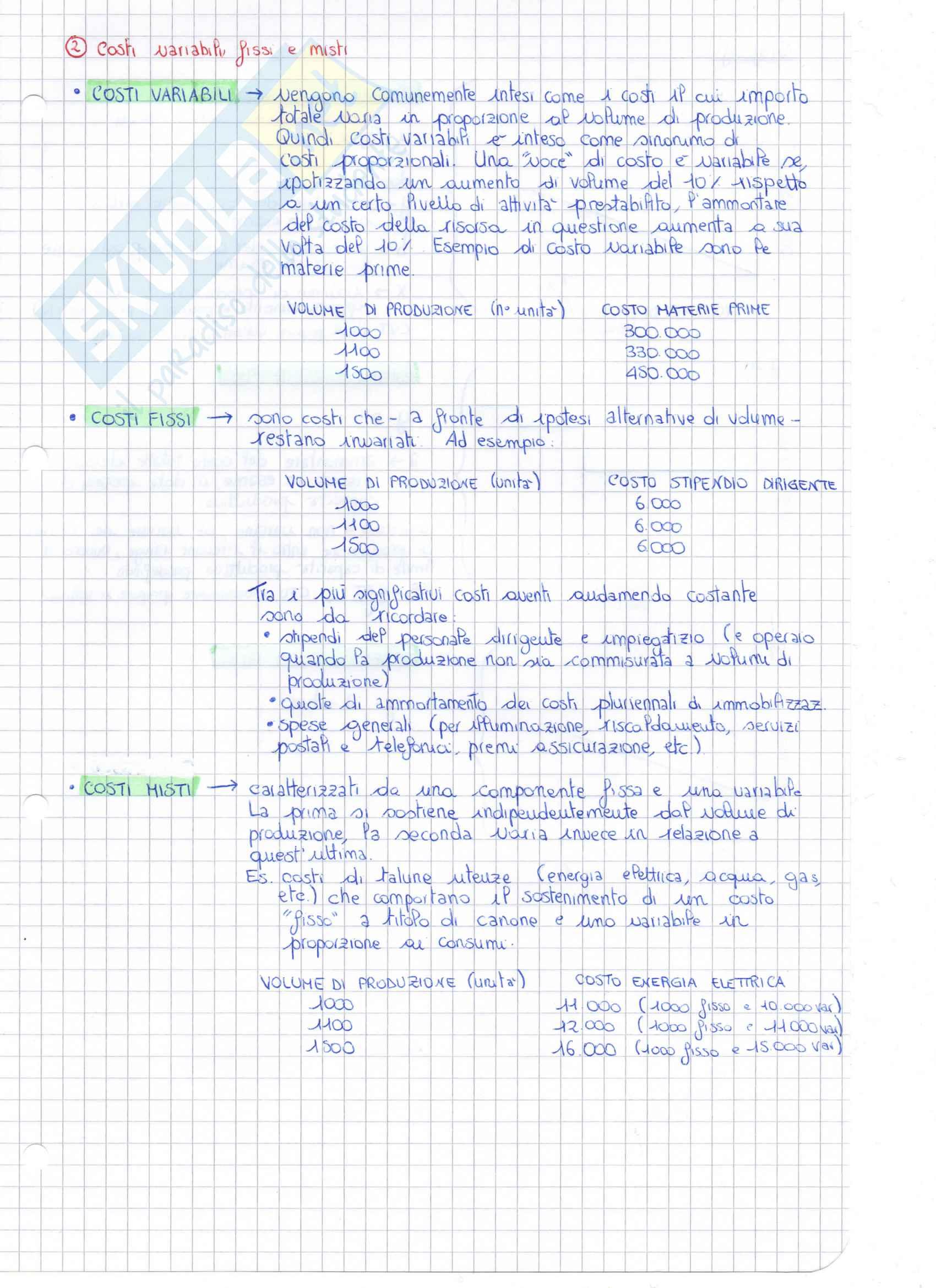 Appunti di Controllo di Gestione Pag. 16