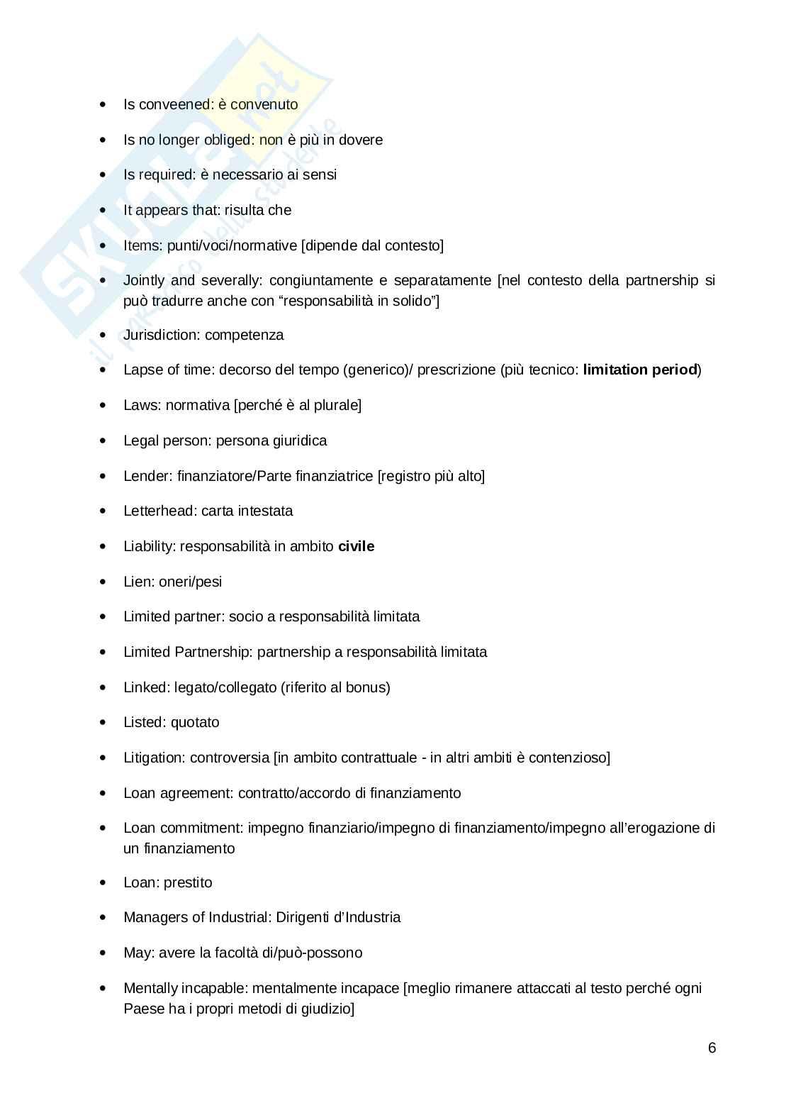 Glossario inglese modulo economico-giuridico Pag. 6