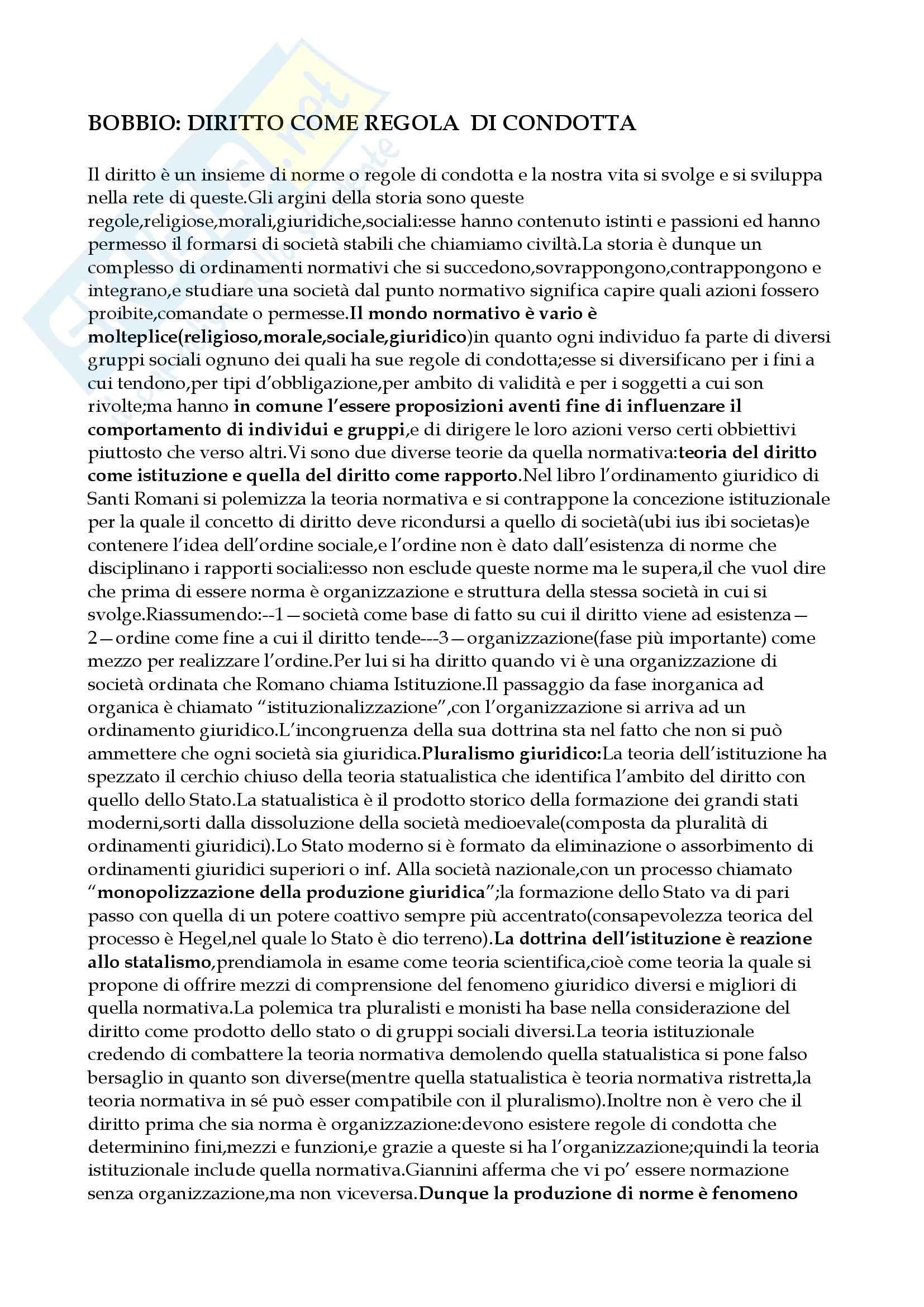 Filosofia del diritto - teoria generale del diritto - Appunti
