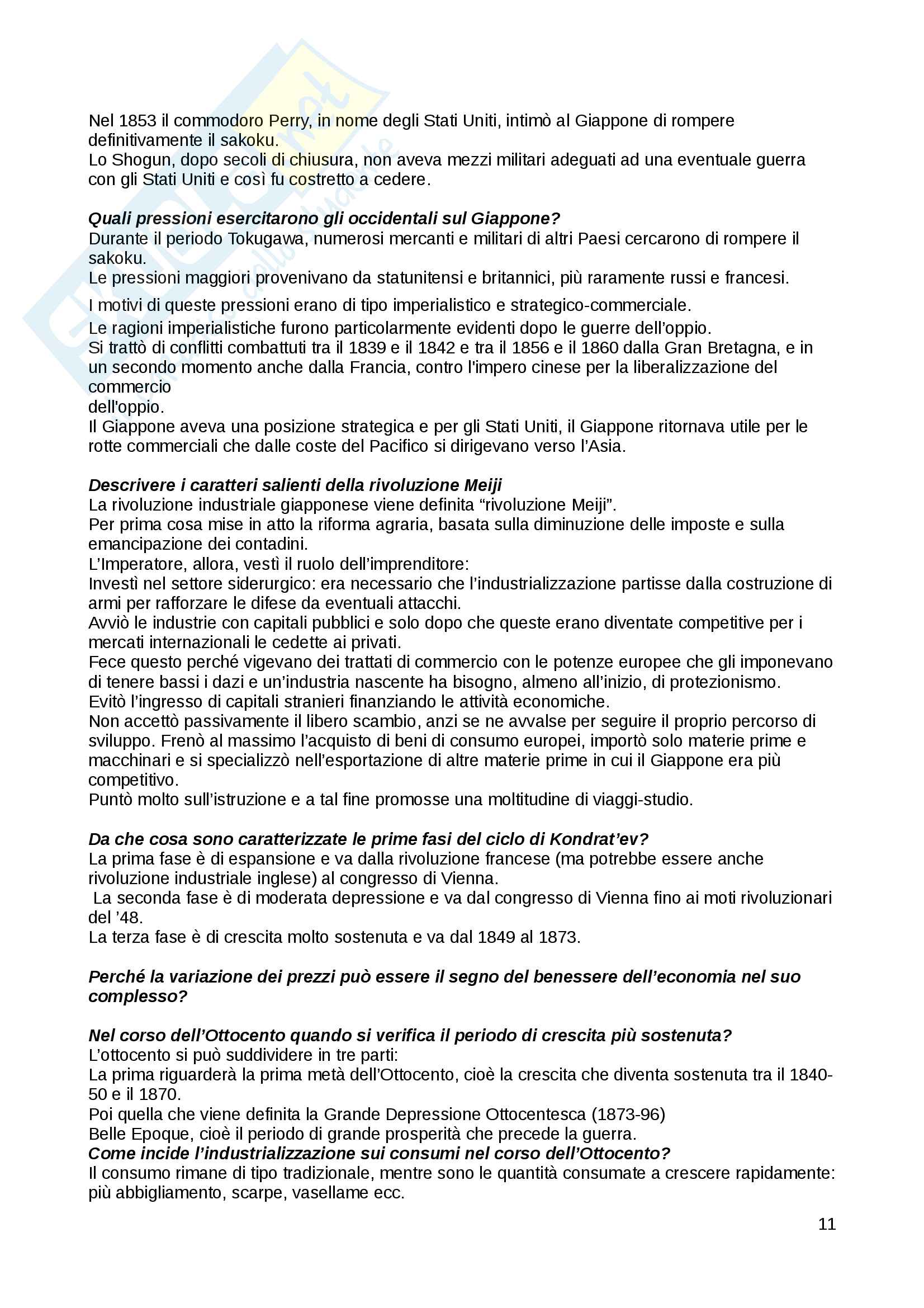 Domande Storia economica Pag. 11