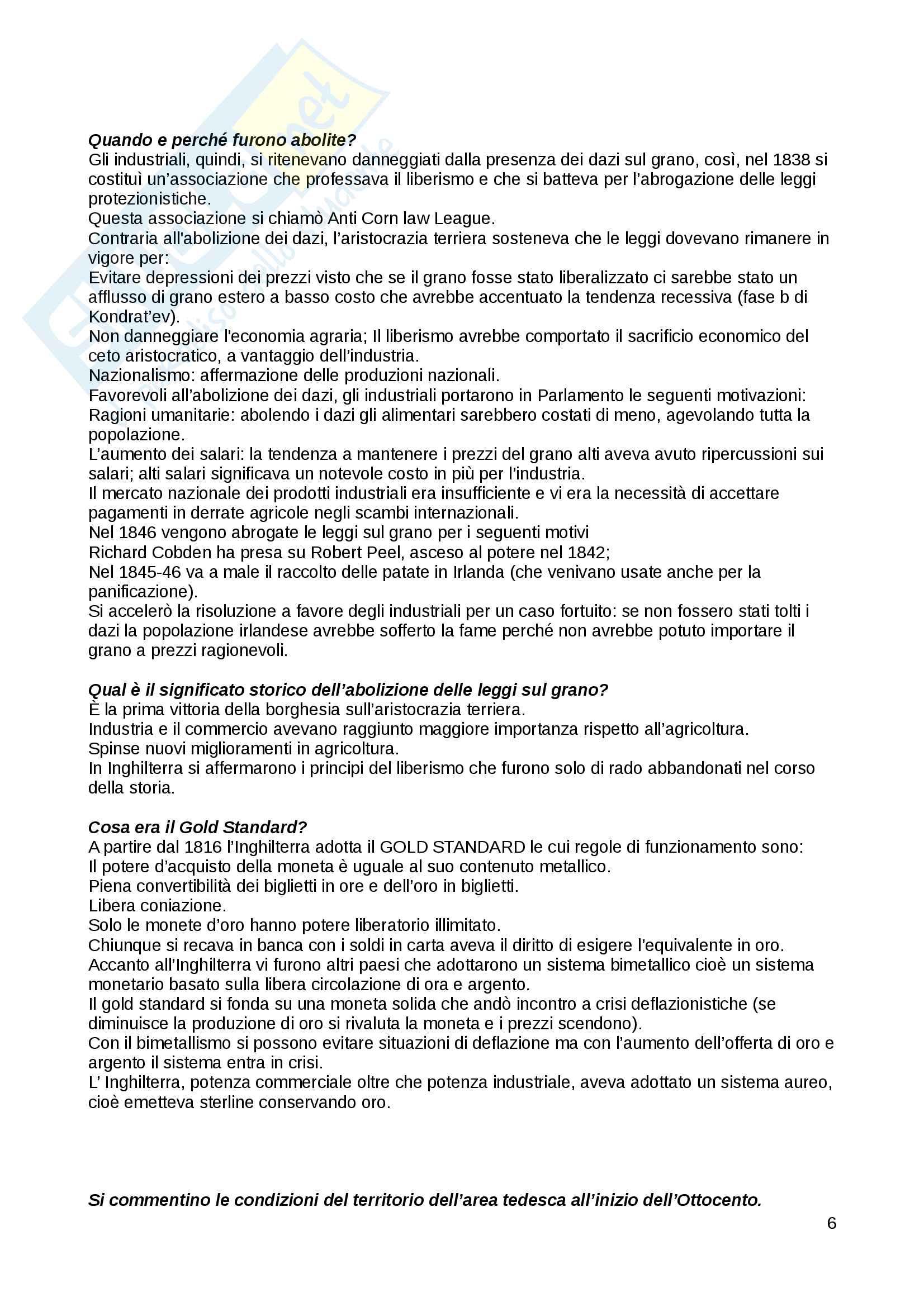 Domande Storia economica Pag. 6