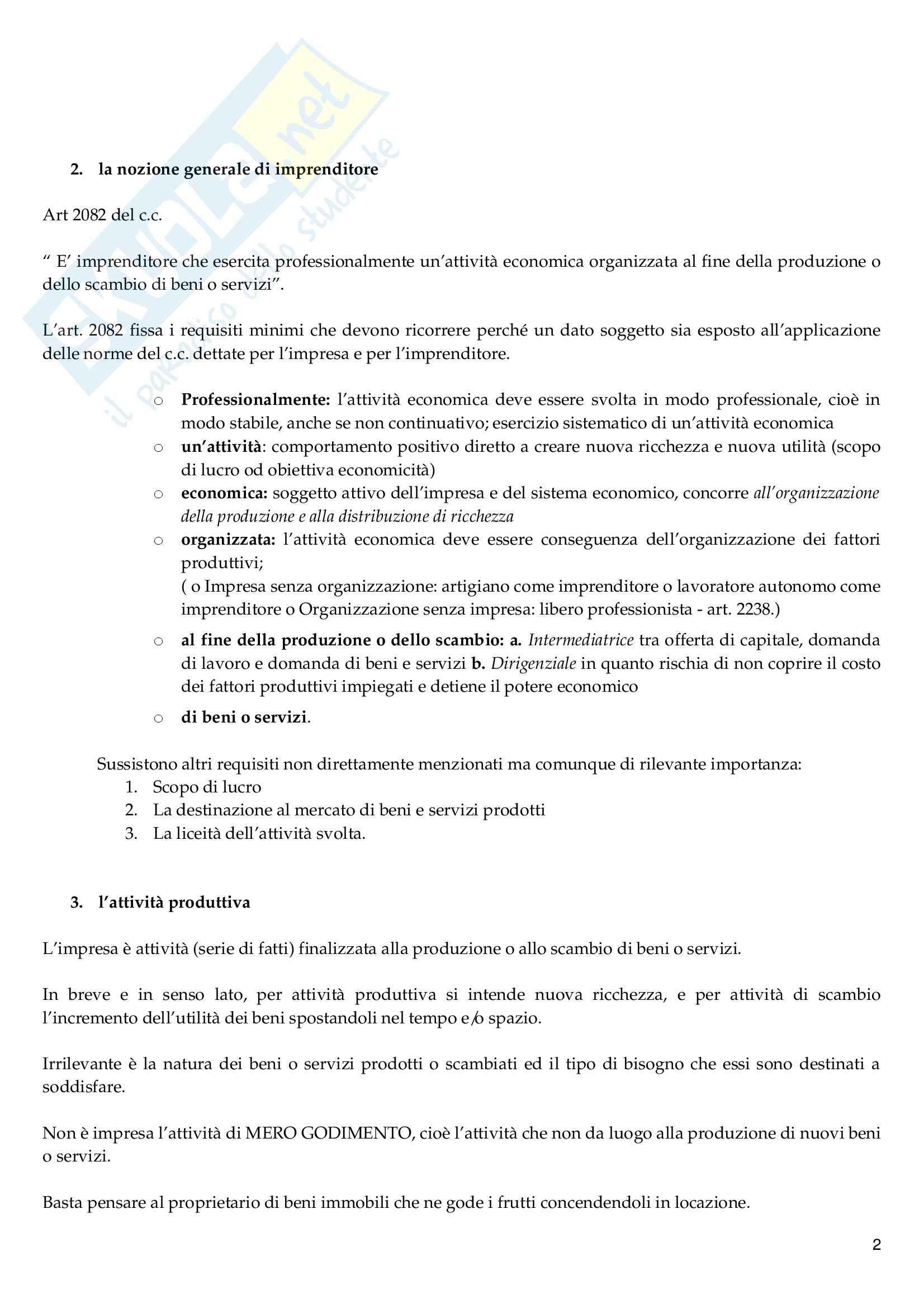 Riassunto esame Diritto Commerciale, prof. Vella, libro consigliato Diritto Commerciale, Campobasso Pag. 2