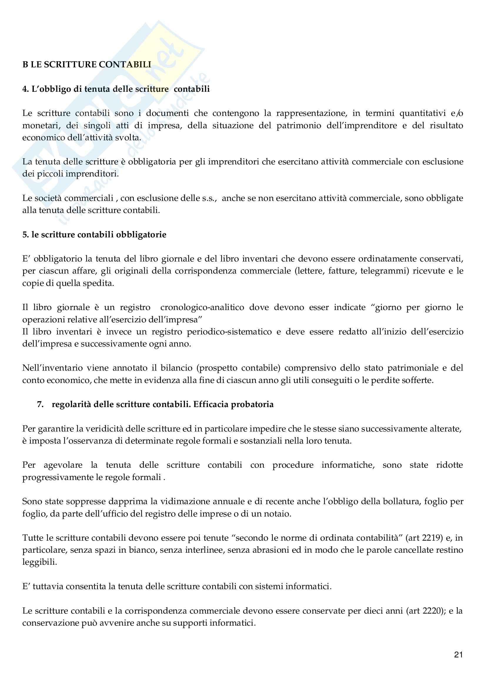 Riassunto esame Diritto Commerciale, prof. Vella, libro consigliato Diritto Commerciale, Campobasso Pag. 21